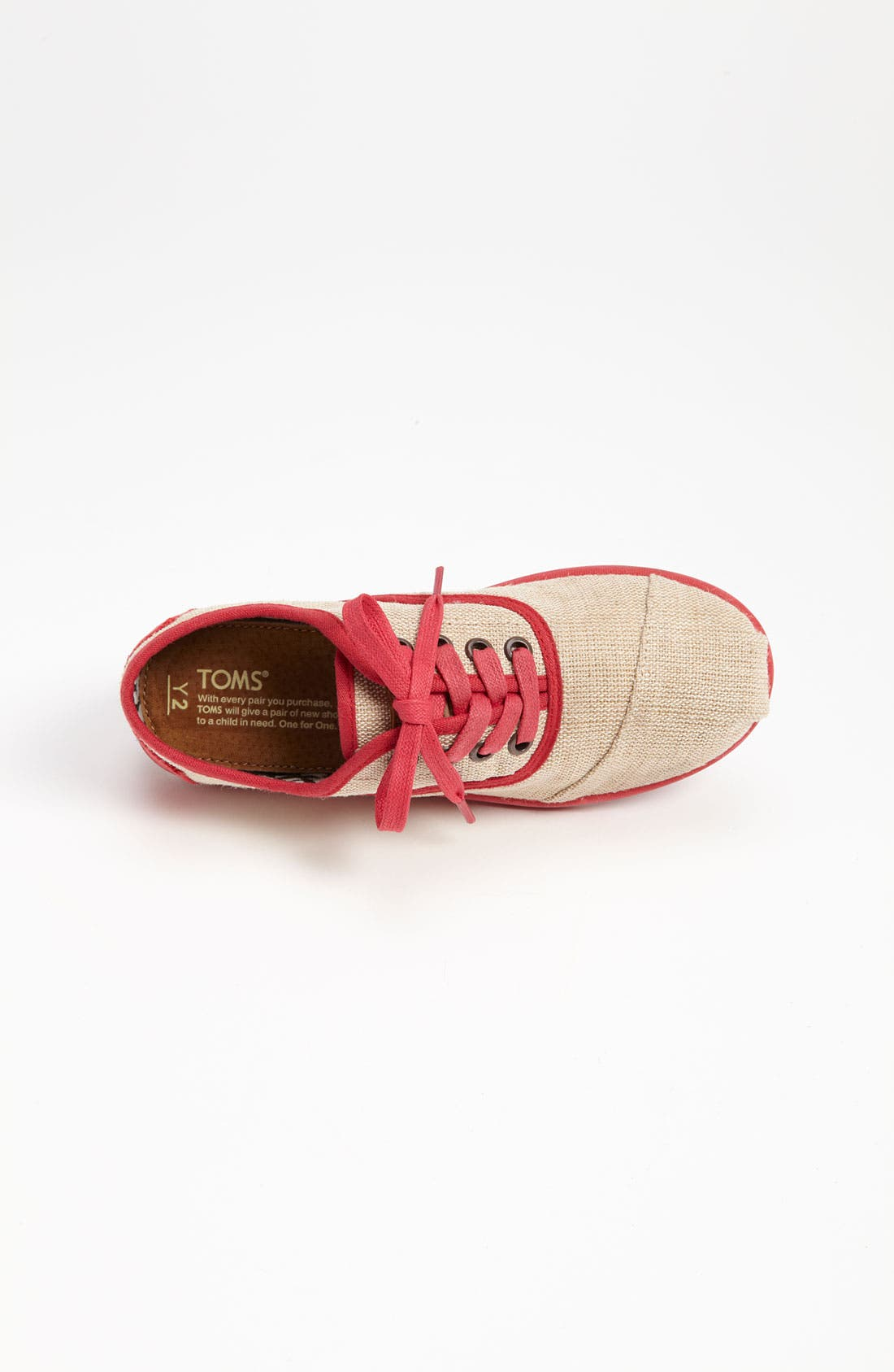 Alternate Image 3  - TOMS 'Cordones Youth - Maddox' Burlap Sneaker (Toddler, Little Kid & Big Kid)