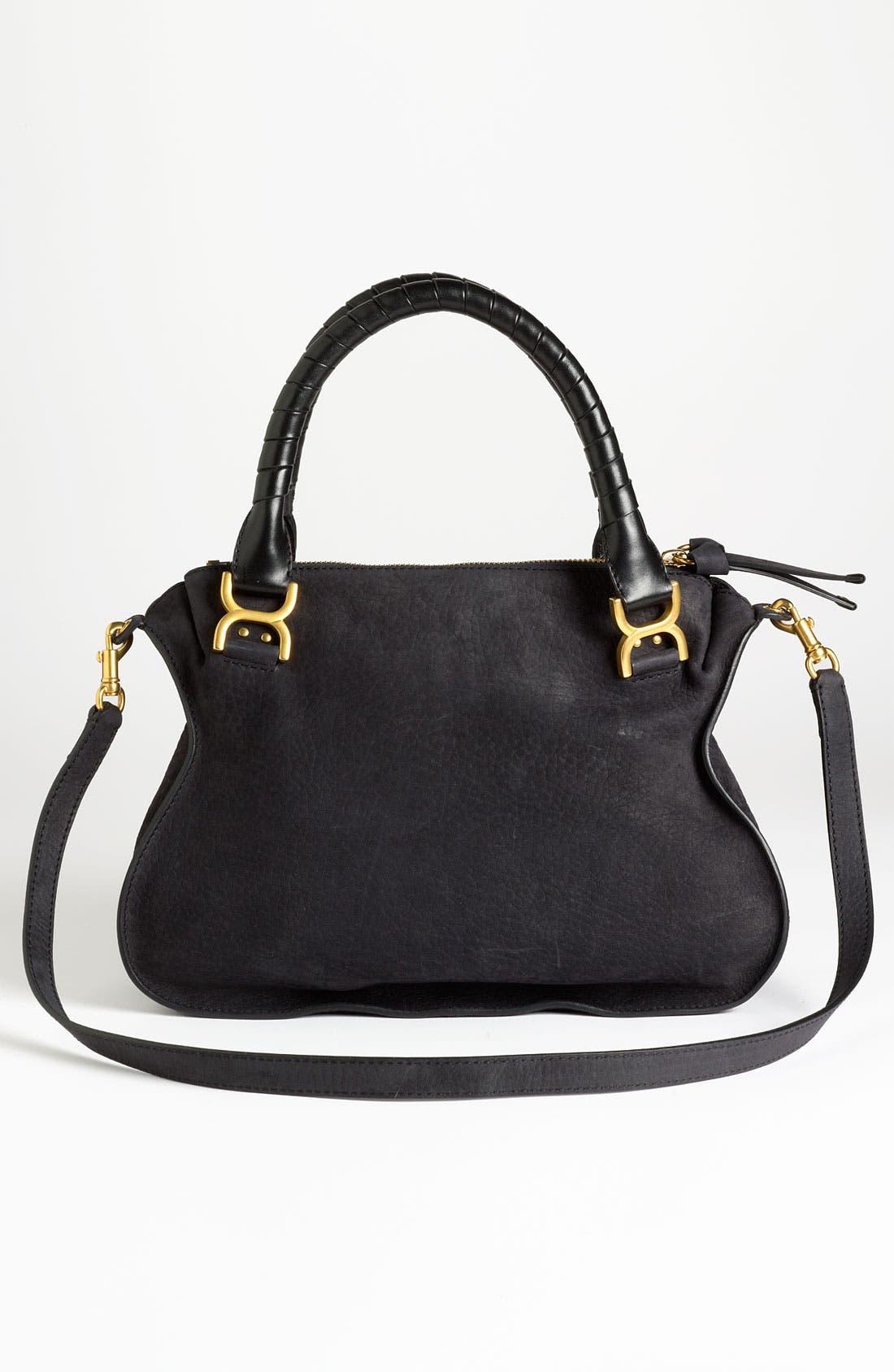Alternate Image 4  - Chloé 'Marcie -Small' Nubuck Leather Shoulder Bag