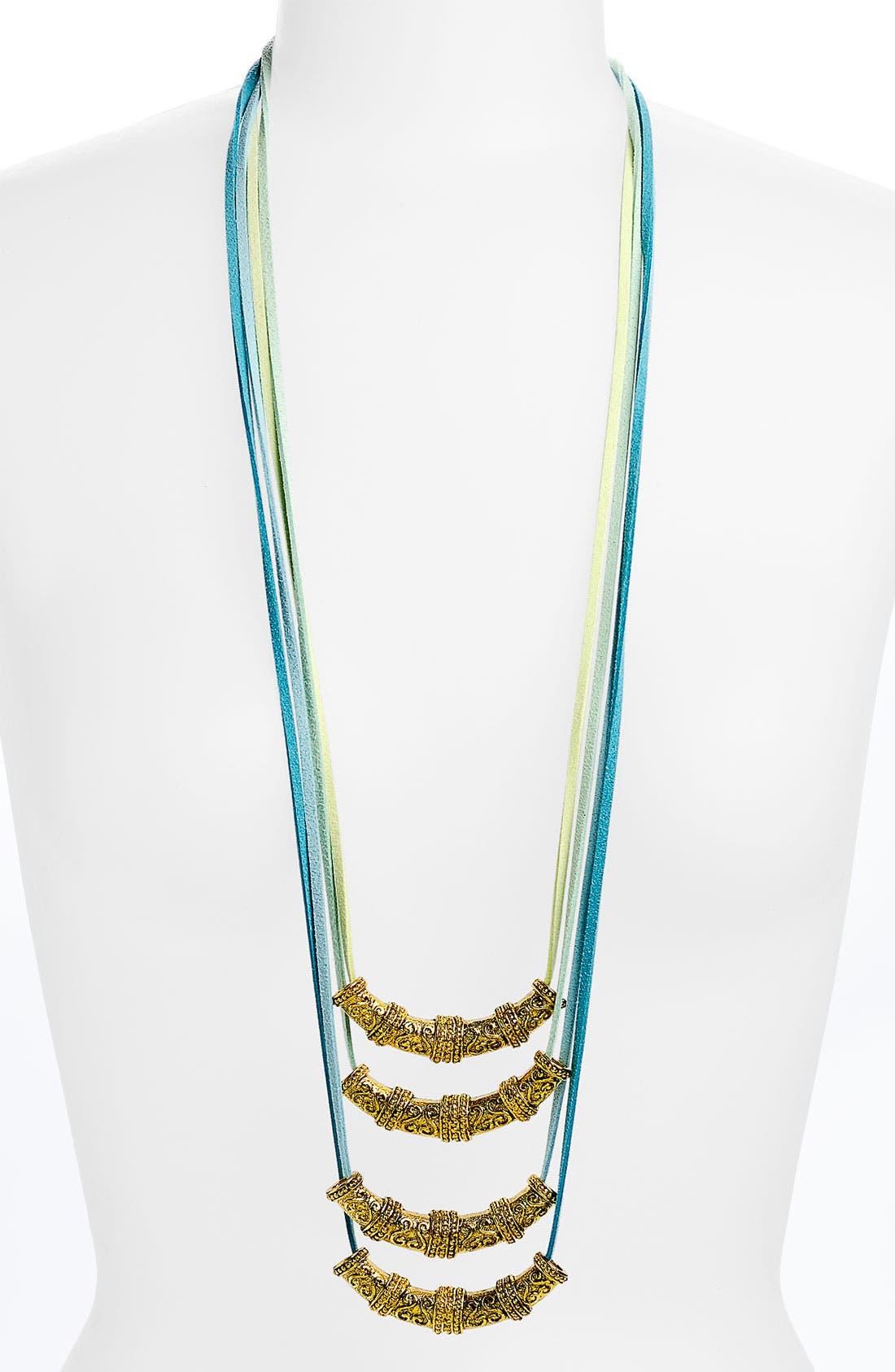 Main Image - Micha Design Long Tube Bead Necklace