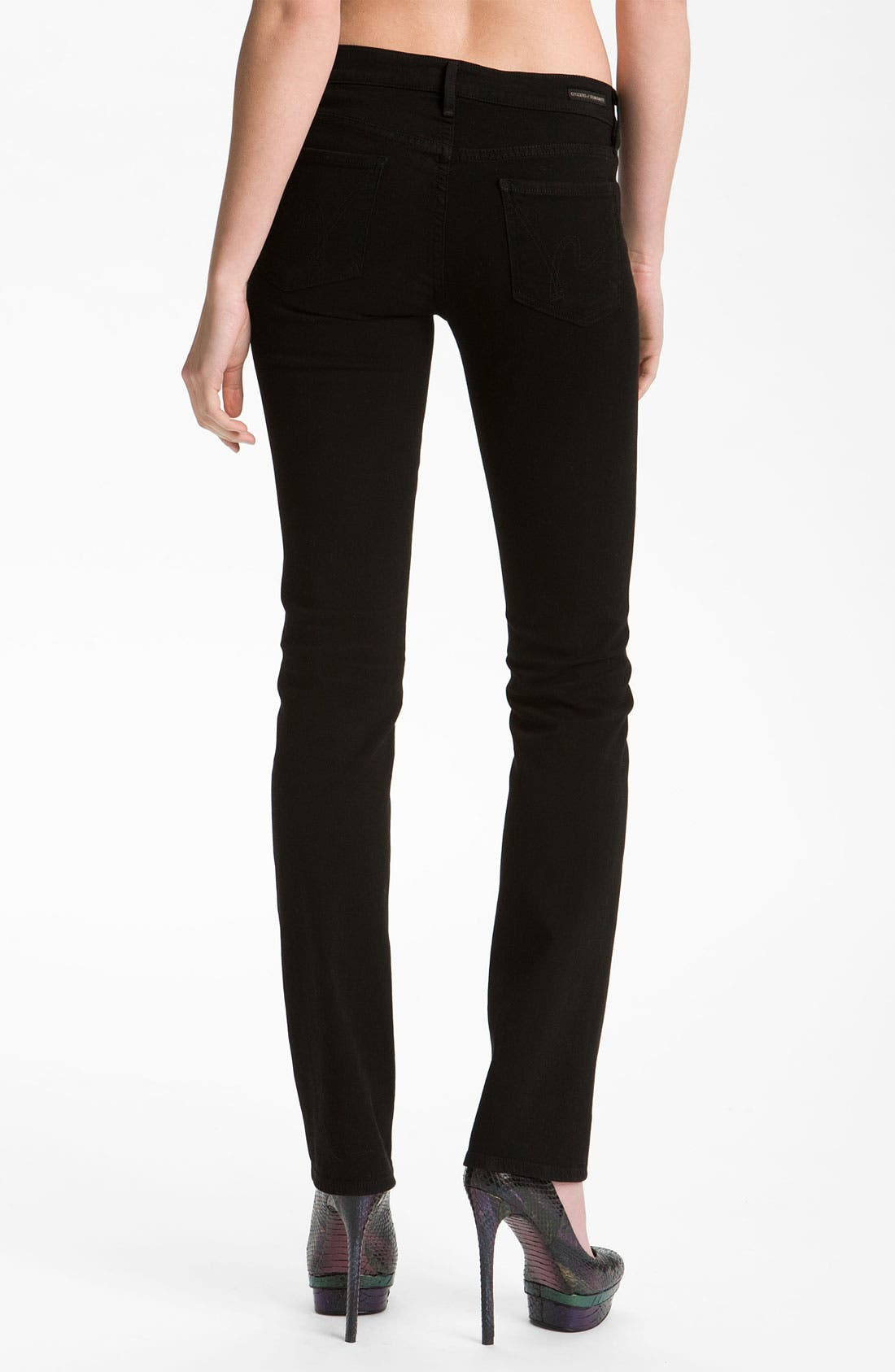 Alternate Image 2  - Citizens of Humanity 'Ava' Straight Leg Stretch Jeans (Vamp Black) (Online Exclusive)