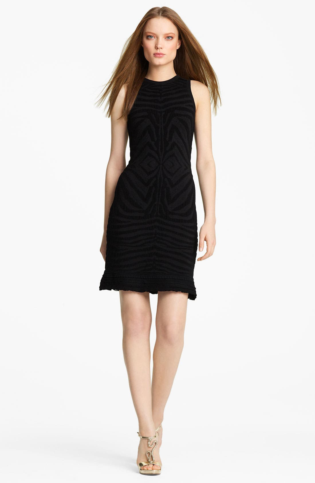 Main Image - Roberto Cavalli Zebra Knit Dress
