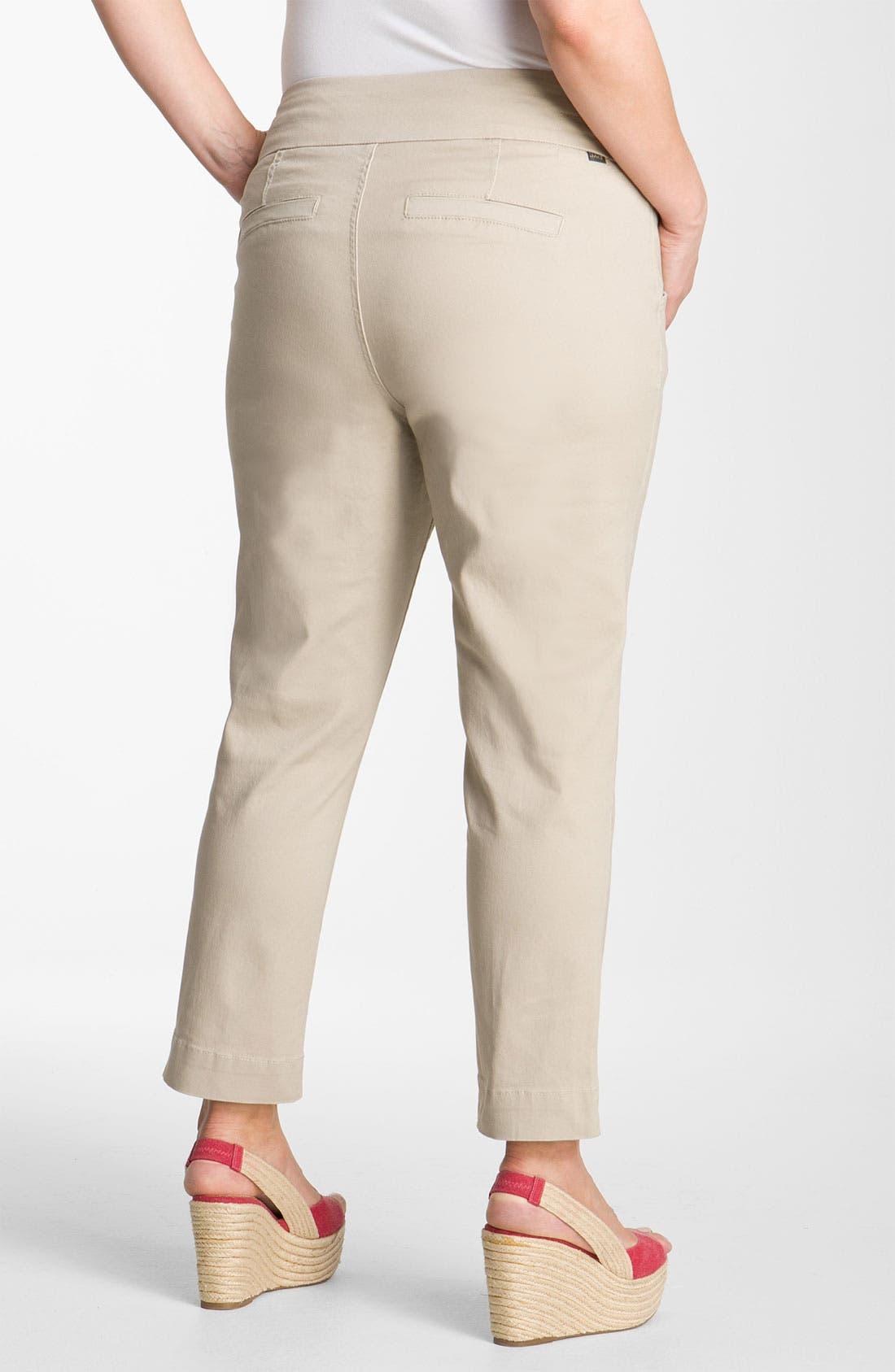 Alternate Image 2  - Jag Jeans 'Attie' Slim Ankle Pants (Plus)