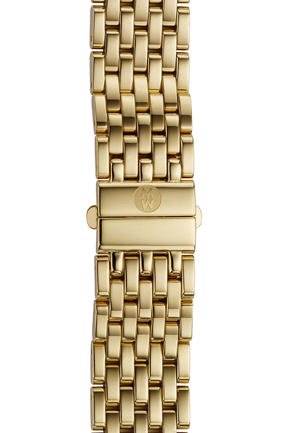 Deco 16 16mm Gold Plated Bracelet Watchband,                         Main,                         color, Gold
