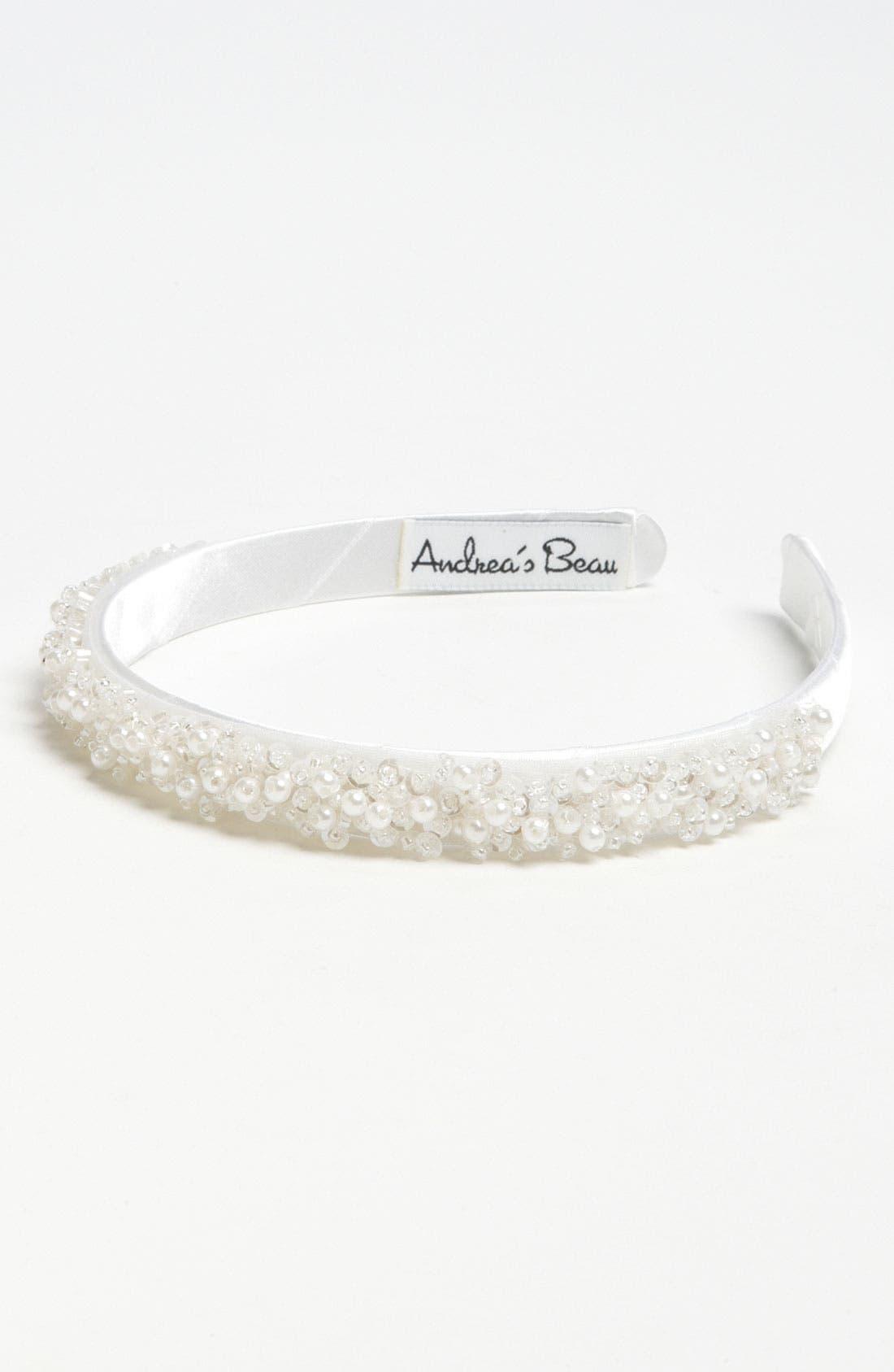 Alternate Image 1 Selected - Andrea's Beau Beaded Headband (Girls)