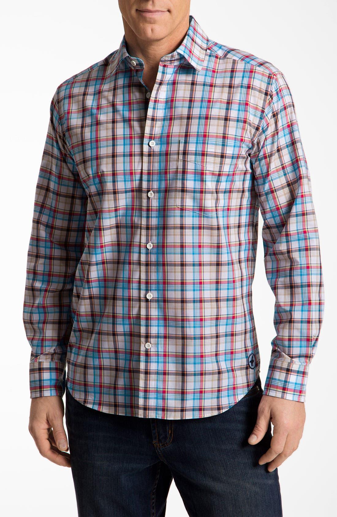 Main Image - Façonnable Classique Fit Cotton & Linen Sport Shirt