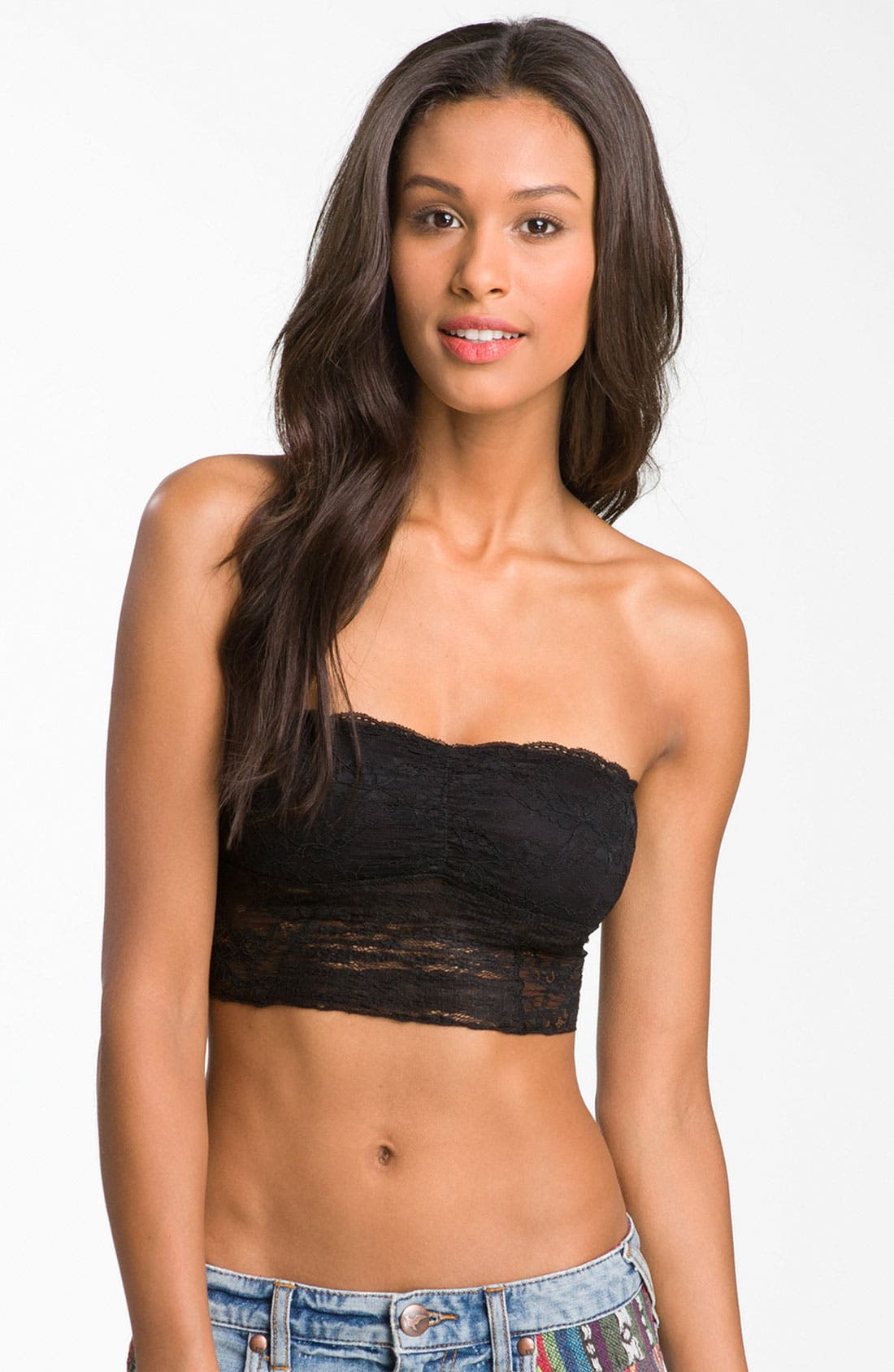 Alternate Image 1 Selected - Free People Galloon Lace Bandeau