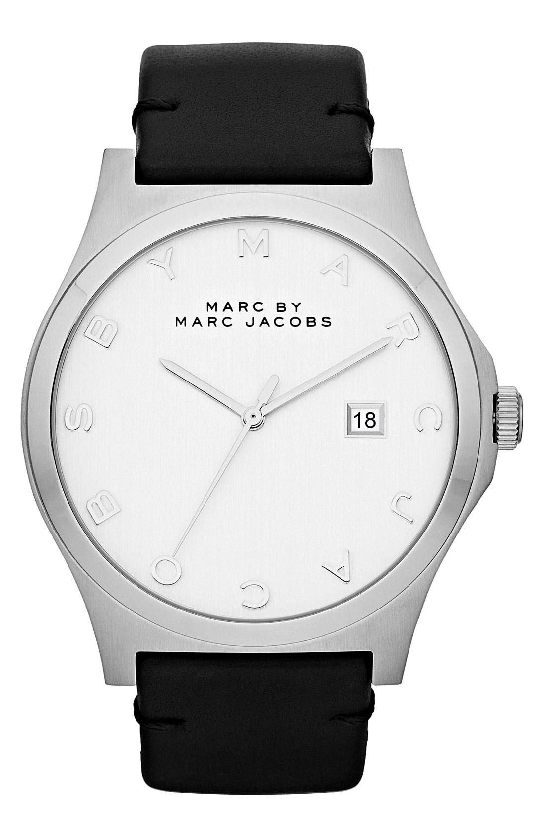 Main Image - MARC JACOBS 'Henry' Leather Strap Watch