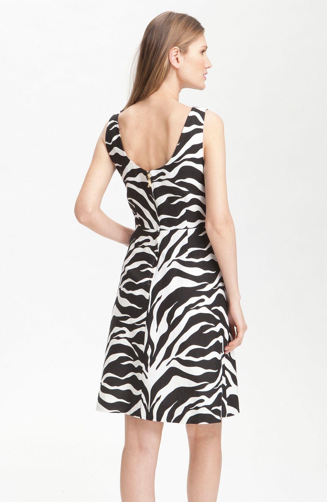 Alternate Image 2  - kate spade new york 'jillian' animal print dress