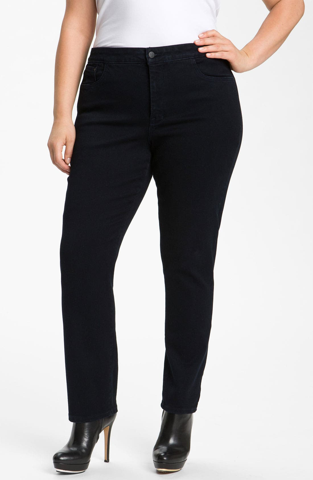Alternate Image 1 Selected - NYDJ 'Jaclyn' Stretch Denim Leggings (Plus)