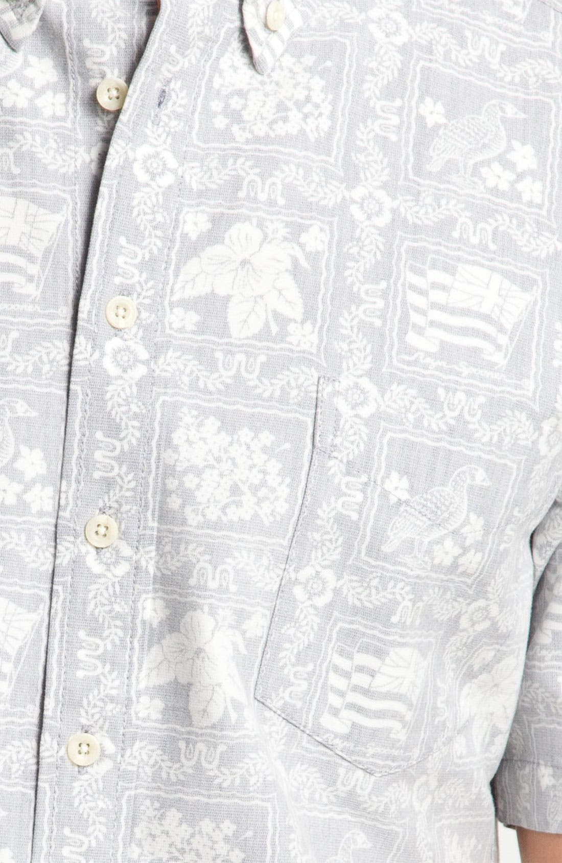 Alternate Image 4  - Reyn Spooner 'Noble Mon' Print Woven Shirt