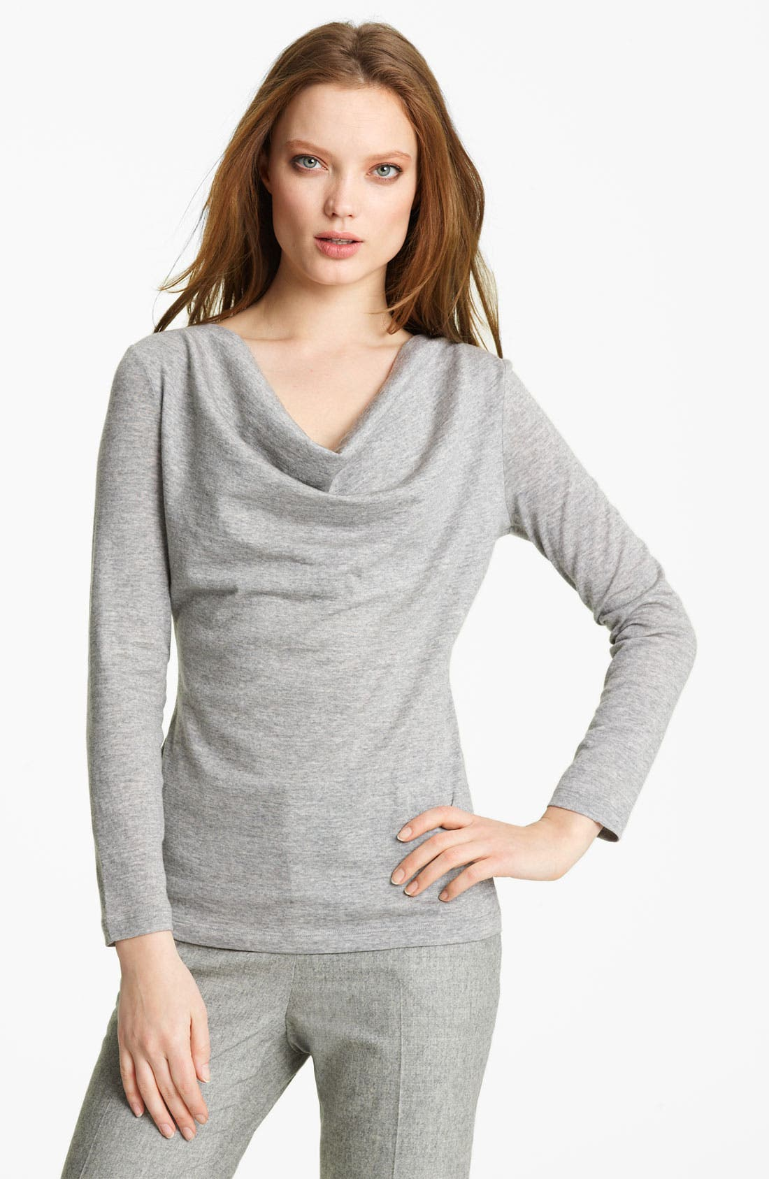 Main Image - Fabiana Filippi Cowl Neck Jersey Top