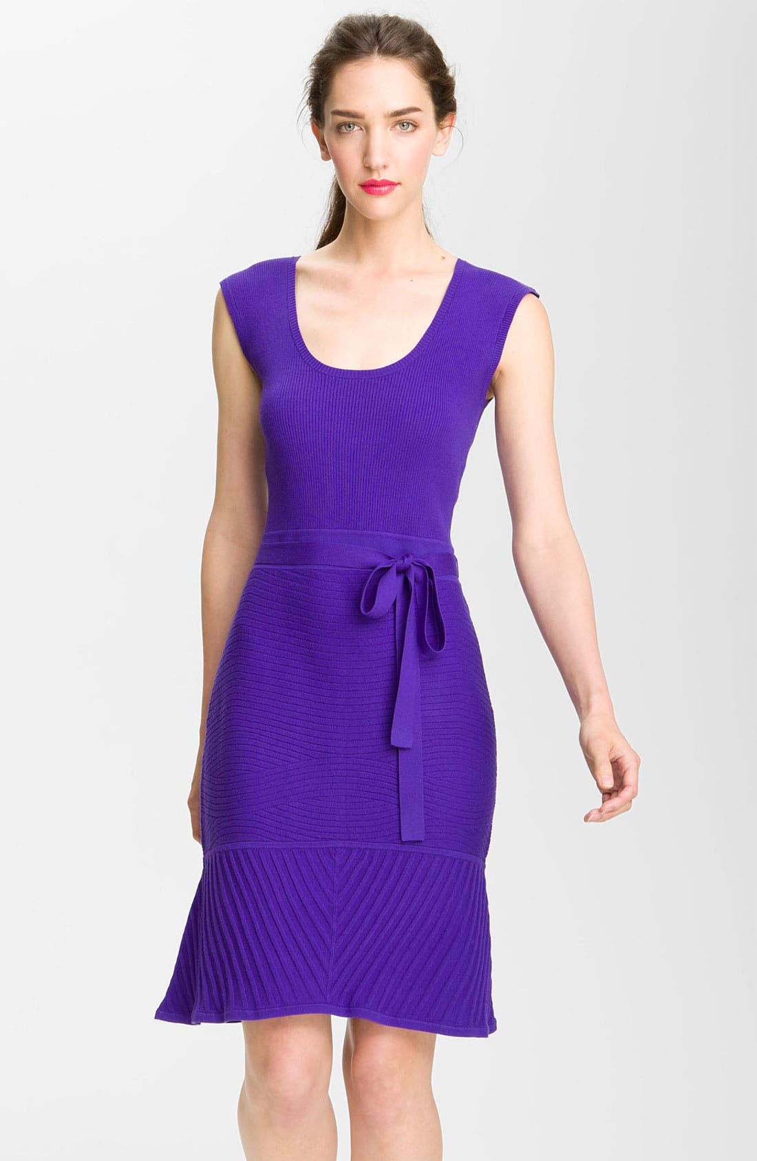 Alternate Image 1 Selected - Milly 'Ava' Mixed Knit Sweater Dress