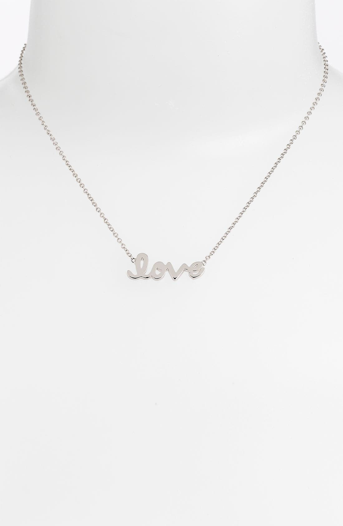 Alternate Image 1 Selected - Ariella Collection 'Messages - Love' Script Pendant Necklace (Nordstrom Exclusive)