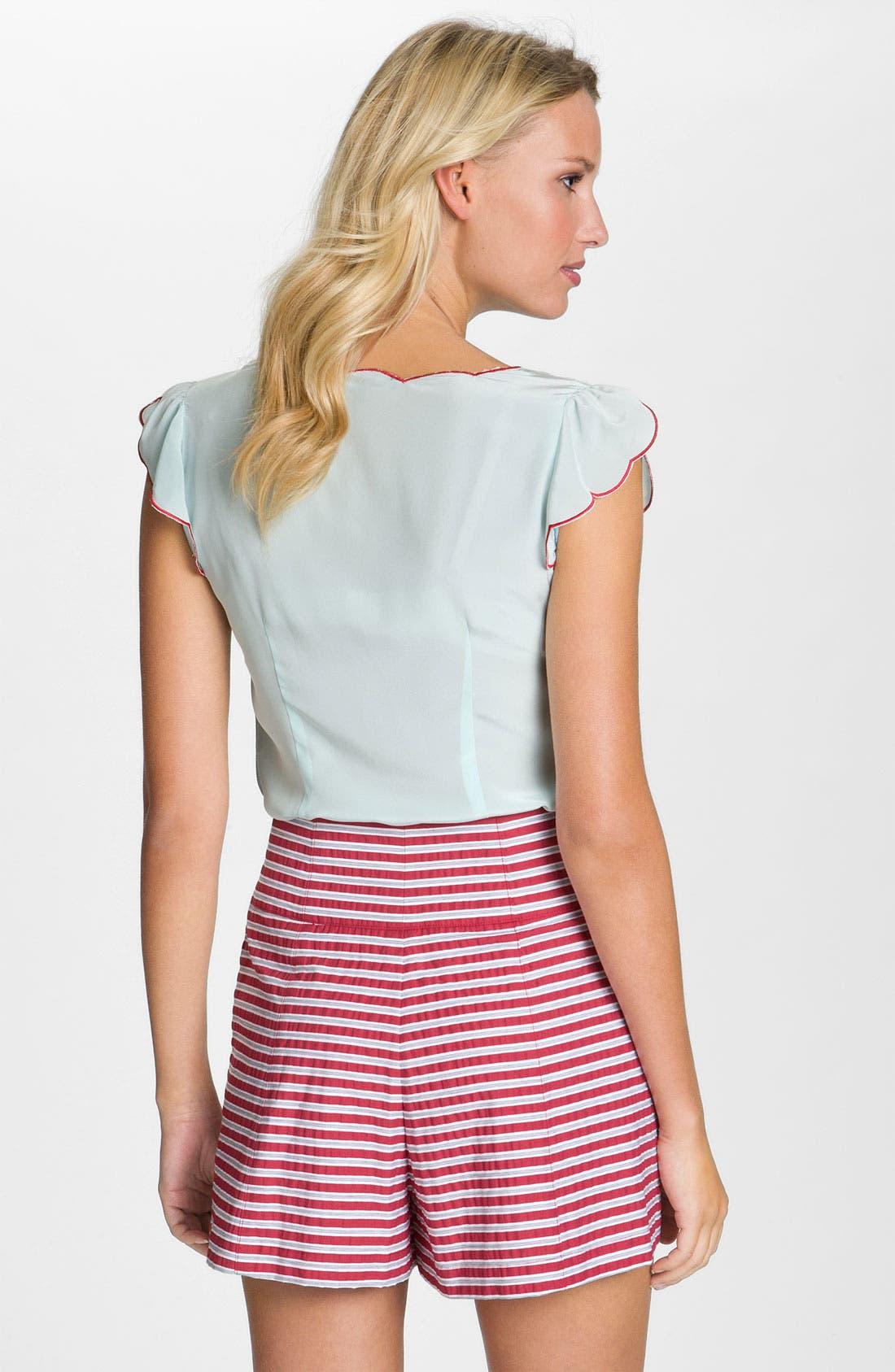 Alternate Image 2  - Nanette Lepore 'Gold Rush' Striped Pleated Shorts