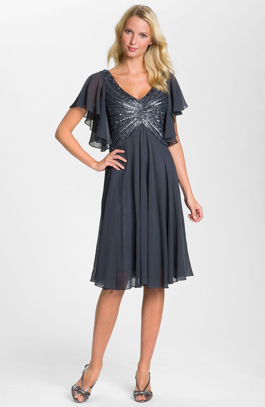 Alternate Image 3  - J Kara V-Neck Sequin Bodice Dress