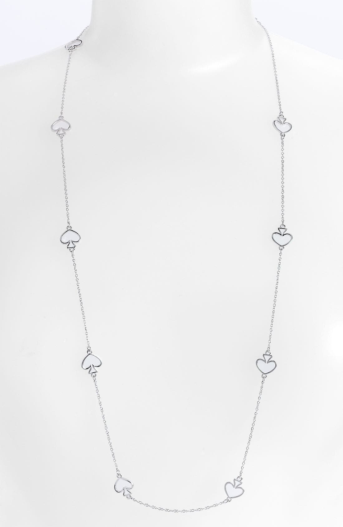 Alternate Image 1 Selected - kate spade new york 'open spade' long necklace