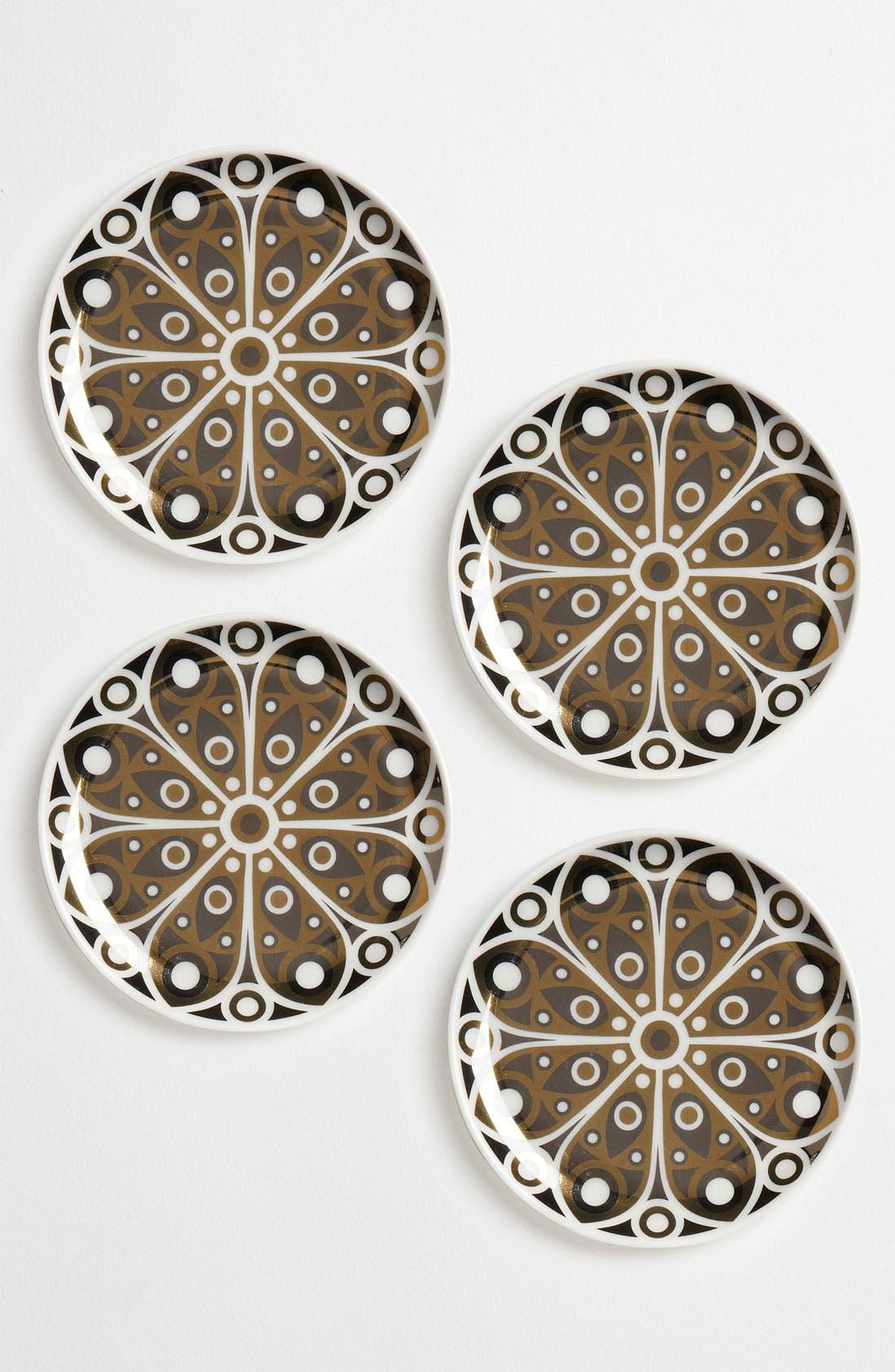 Main Image - Jonathan Adler 'Peacock' Porcelain Coasters (Set of 4)