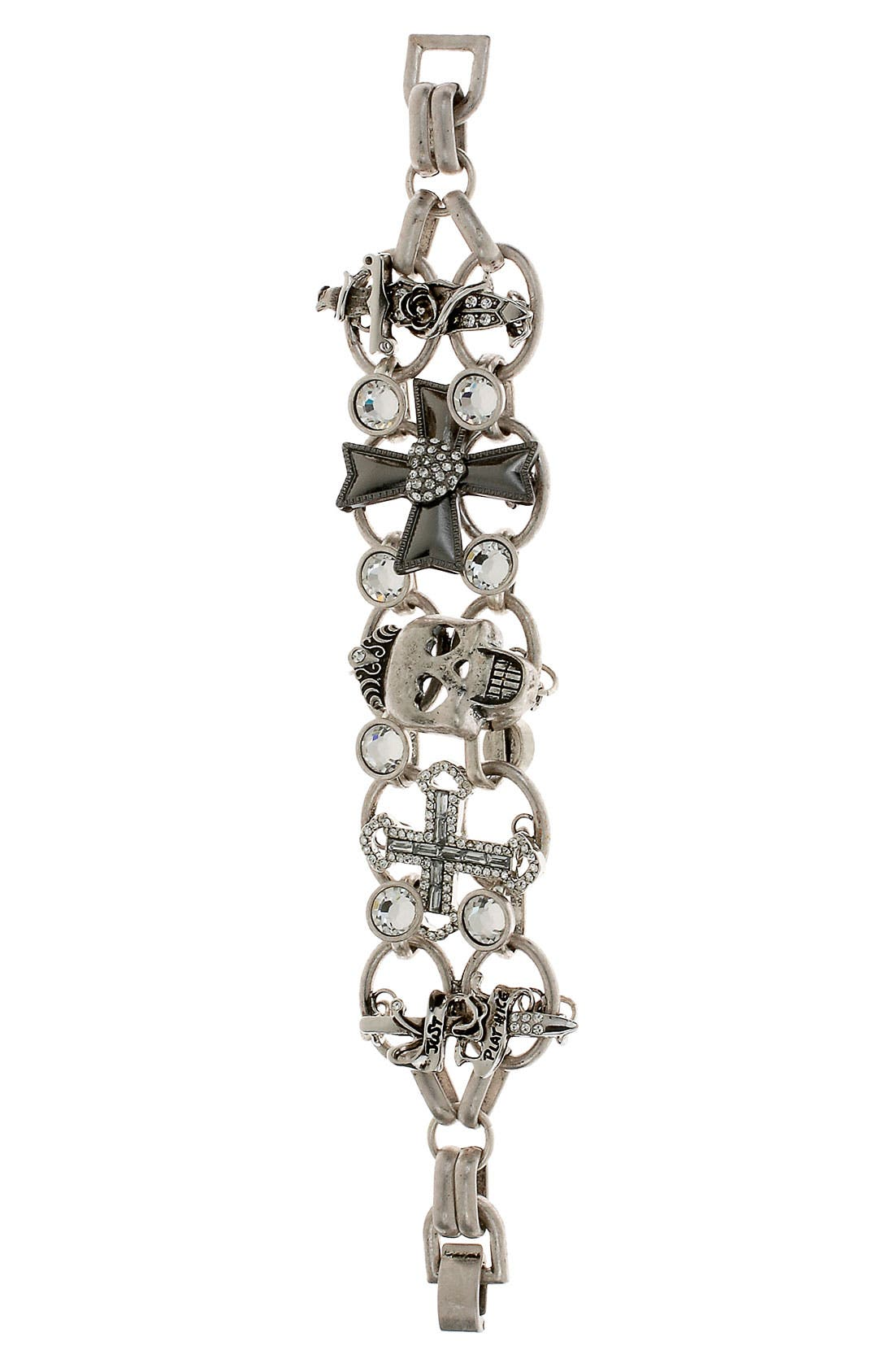 Alternate Image 1 Selected - Betsey Johnson 'Black Label' Skull Bracelet