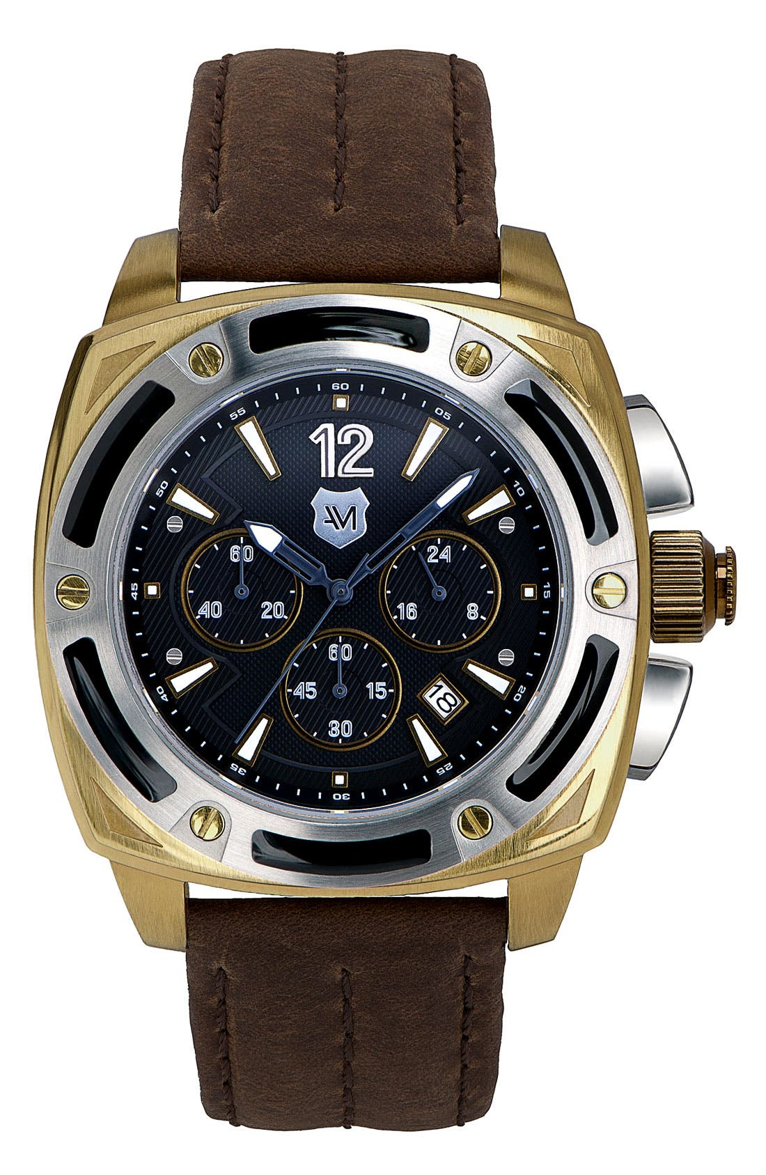 Main Image - Andrew Marc Watches 'G-III Bomber' Chronograph Watch, 46mm