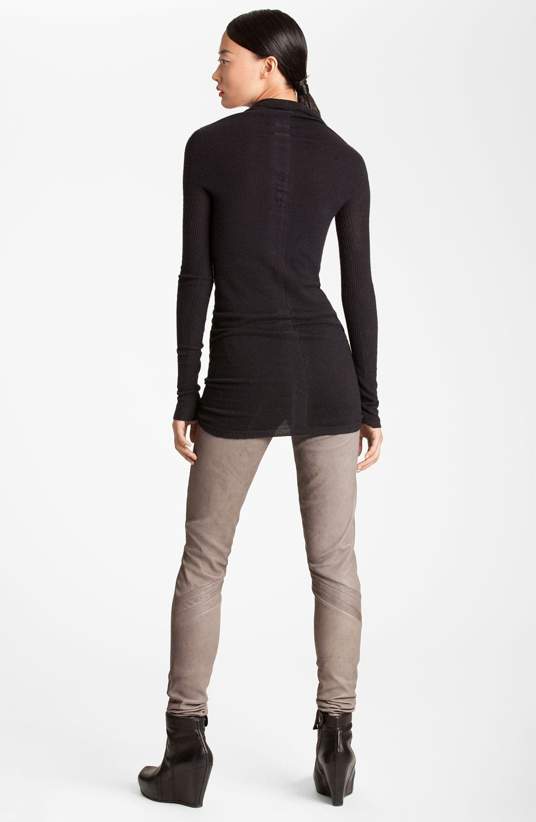 Alternate Image 2  - Rick Owens Cowl Neck Merino Wool Tunic