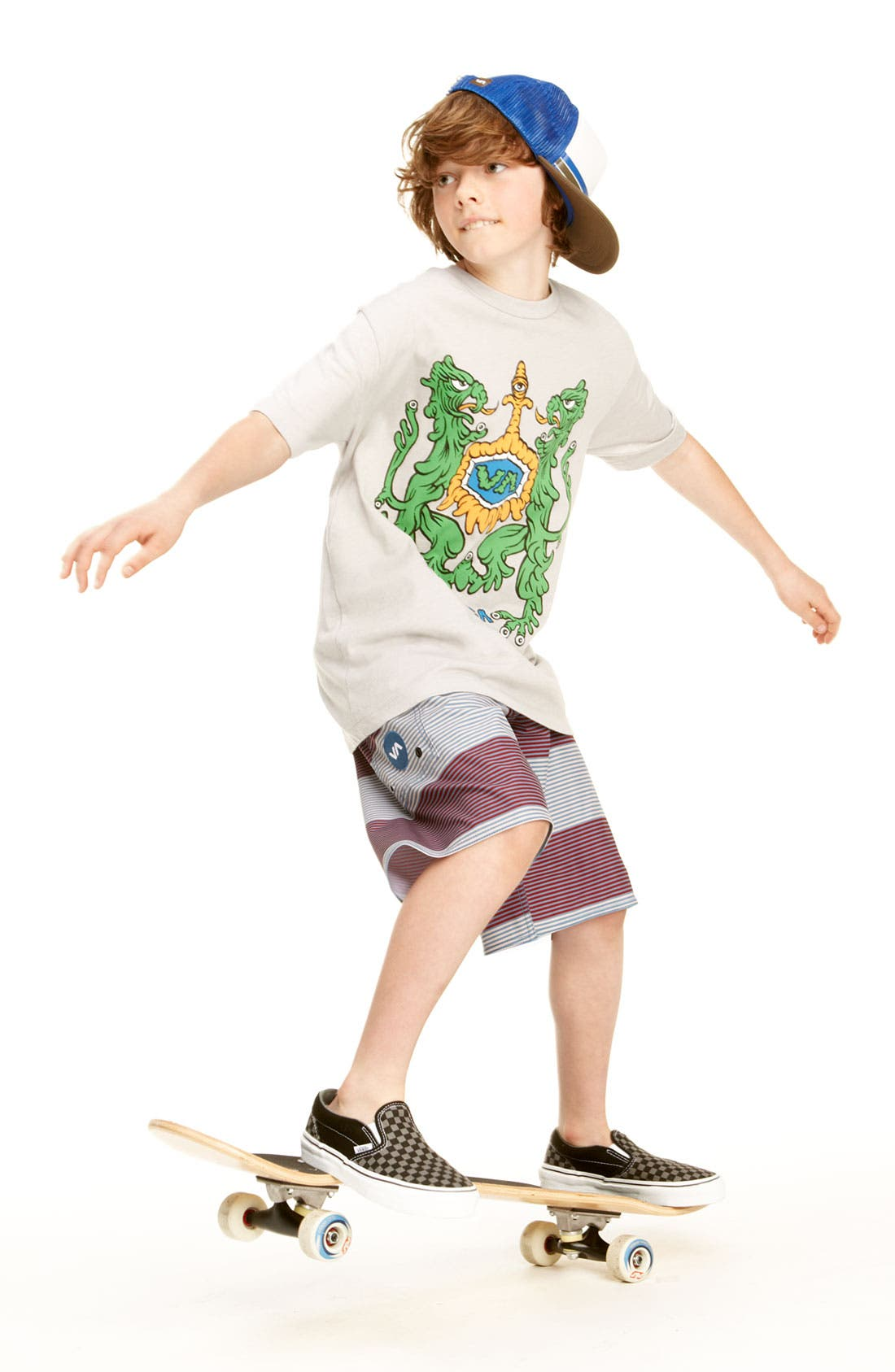 Alternate Image 3  - RVCA 'Civil Stripe' Board Shorts (Big Boys)