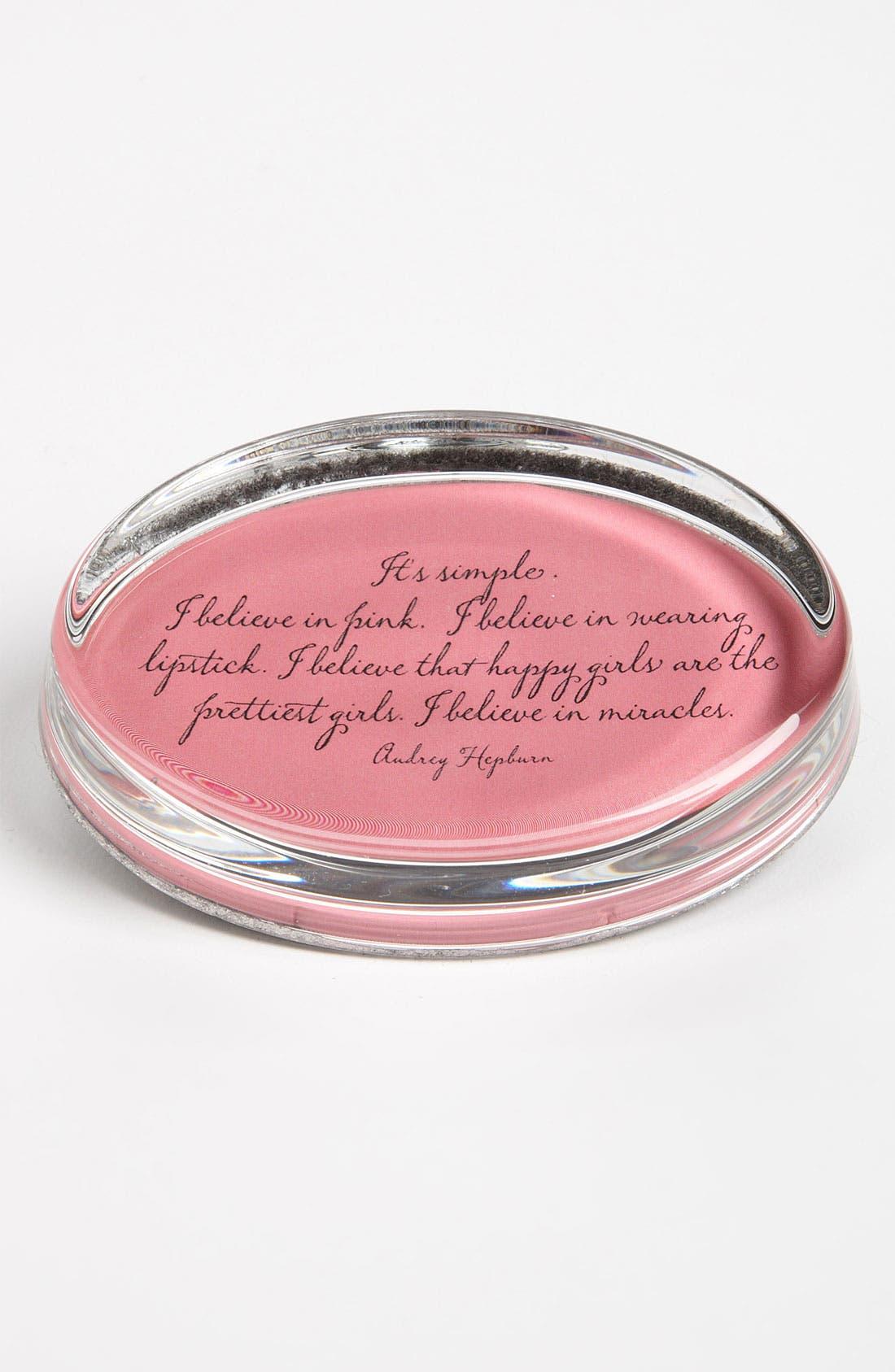 Ben's Garden 'I Believe in Pink' Paperweight