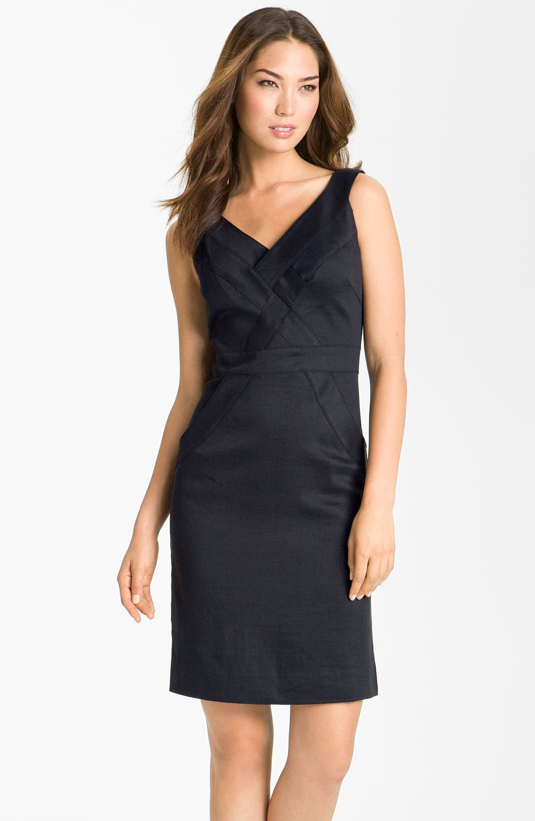 Main Image - Milly Basketweave Sleeveless Sheath Dress