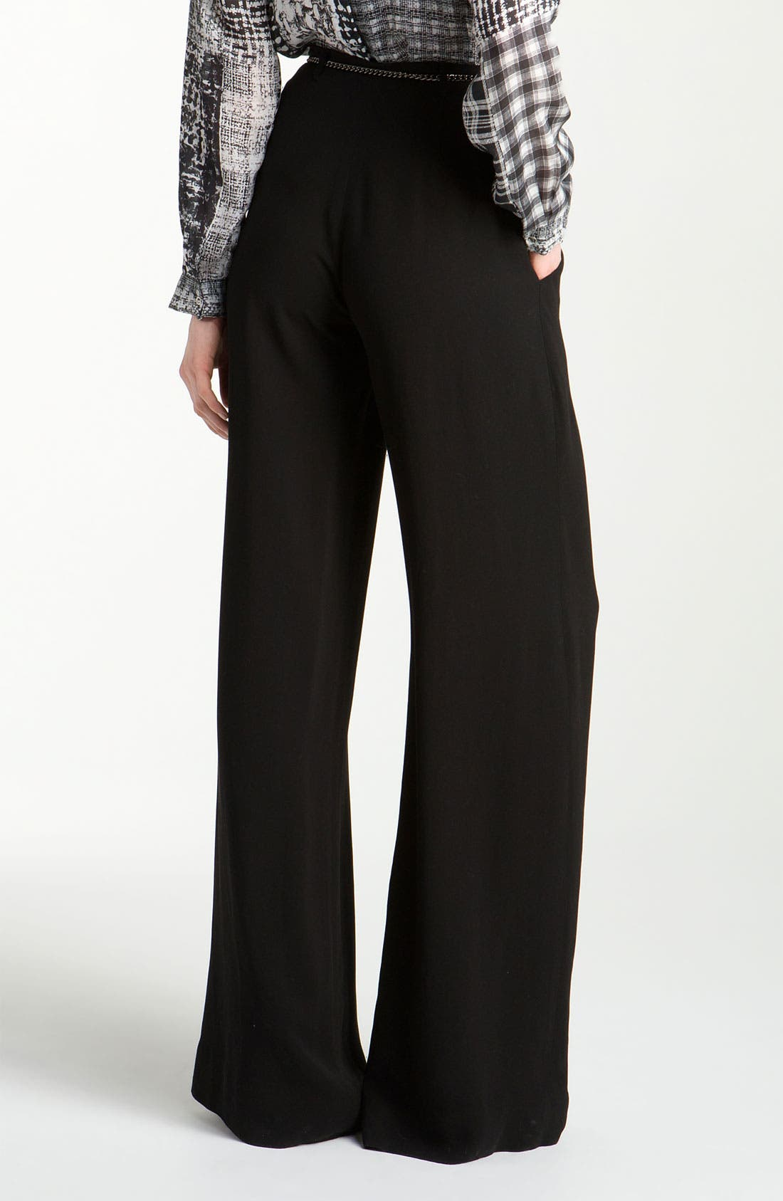 Alternate Image 2  - L'AGENCE 'Floor Sweeper' Belted Wide Leg Pants