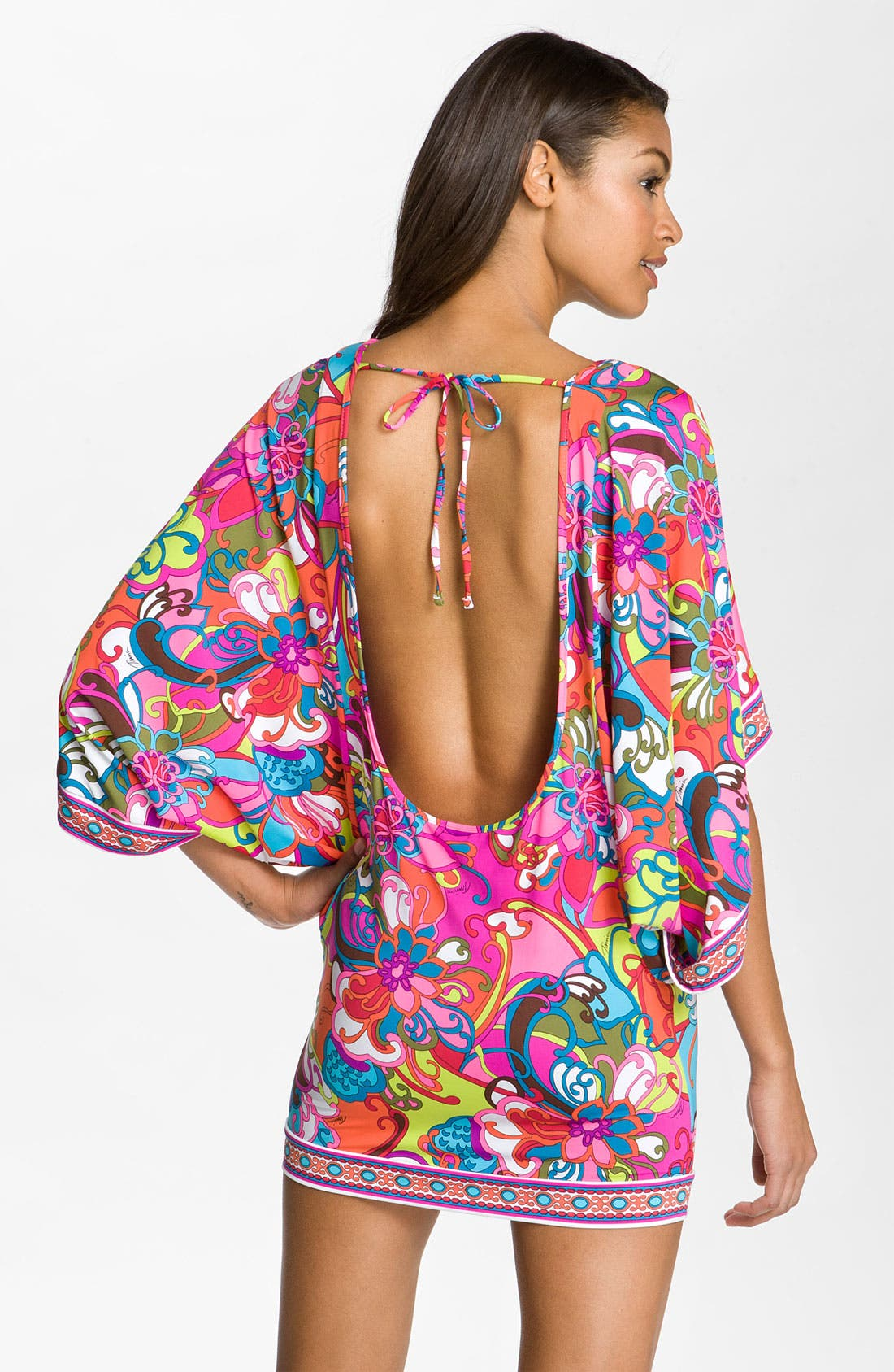 Alternate Image 2  - Trina Turk 'Fiji Flower' Tunic Cover-Up
