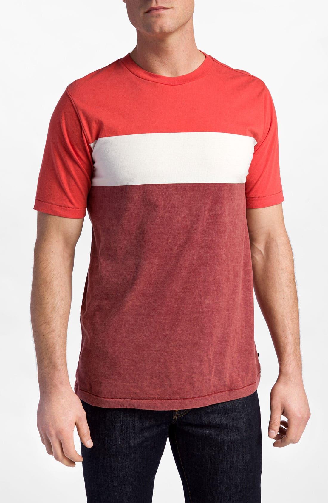 Main Image - Quiksilver 'Friday' Colorblock Crewneck T-Shirt