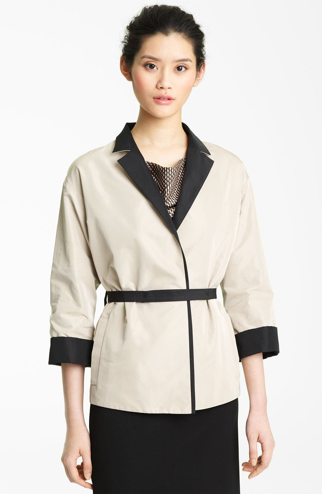 Alternate Image 1 Selected - Lida Baday Belted Reversible Twill Jacket