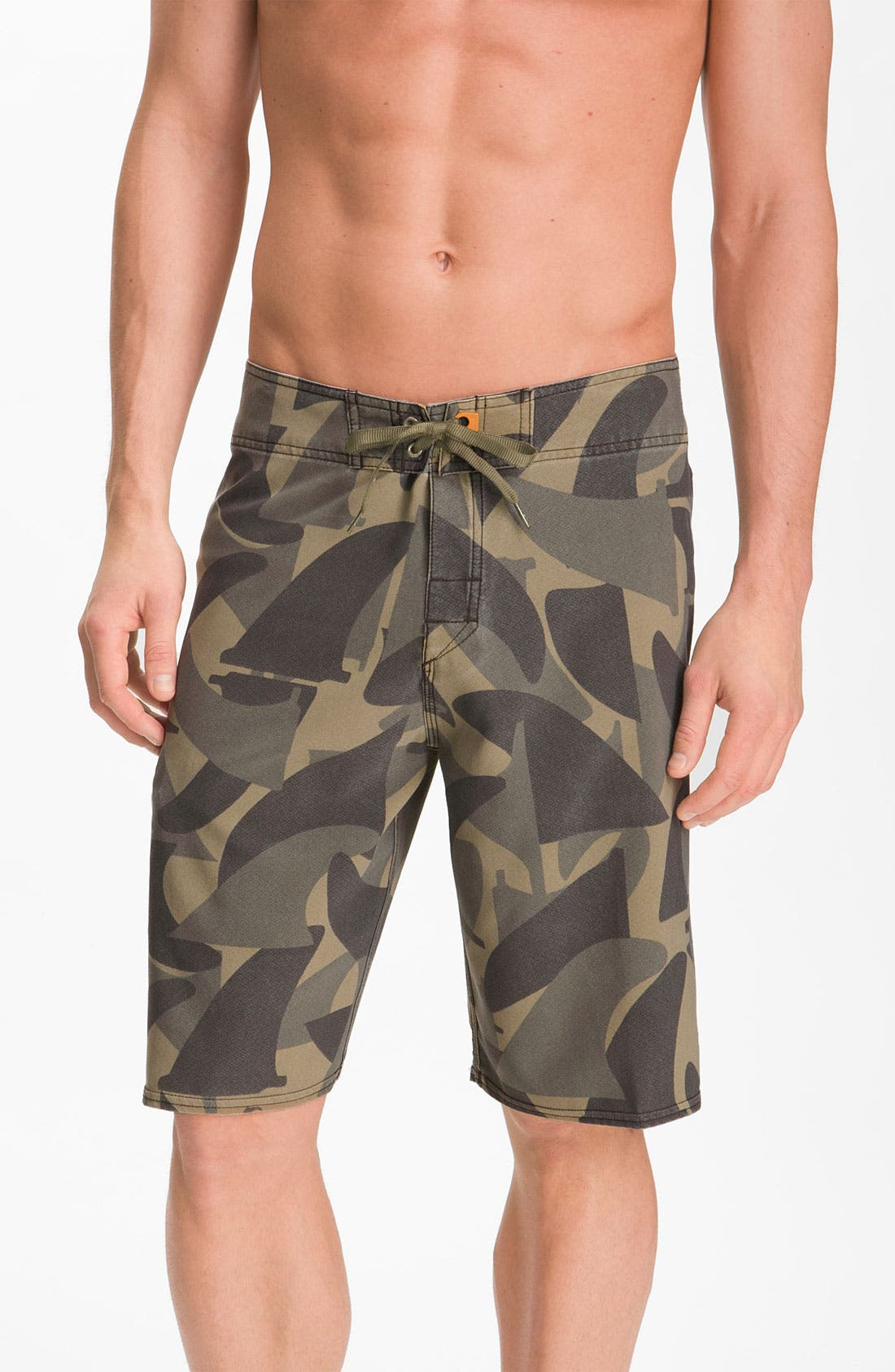 Alternate Image 1 Selected - Quiksilver Waterman 'Camofin' Board Shorts
