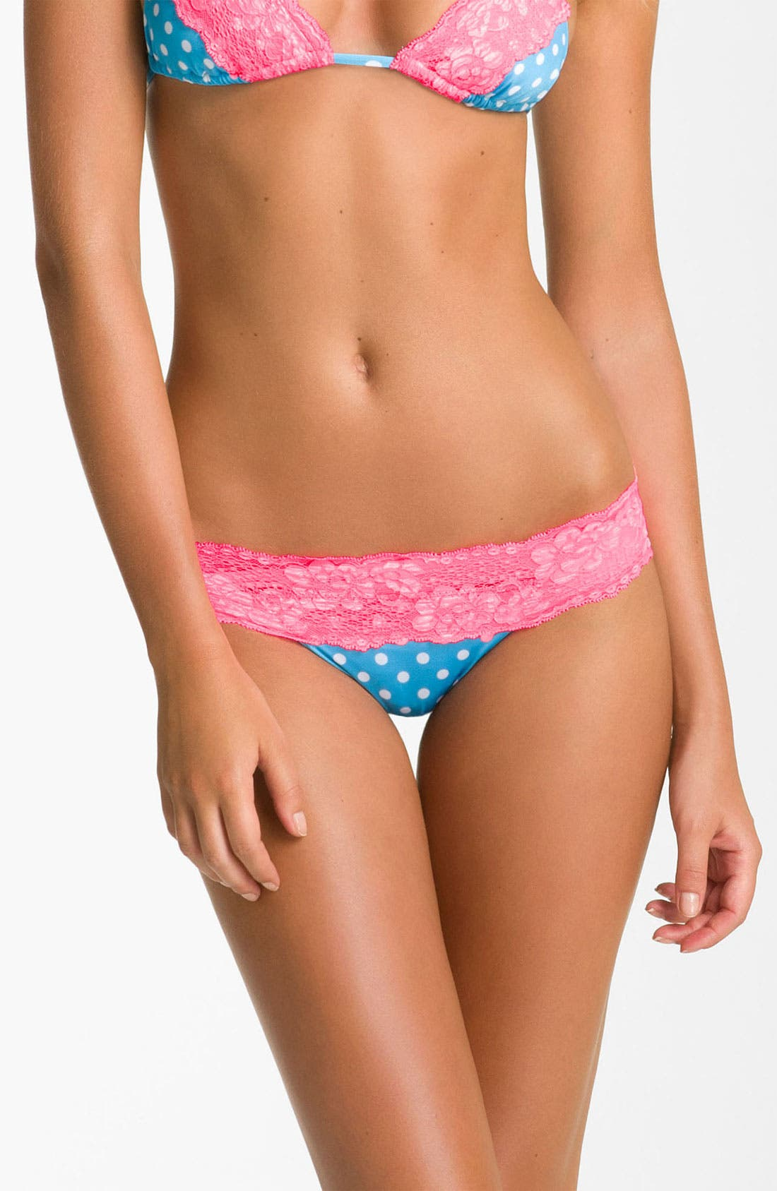 Alternate Image 1 Selected - Beach Bunny Lace Trim Bikini Bottom
