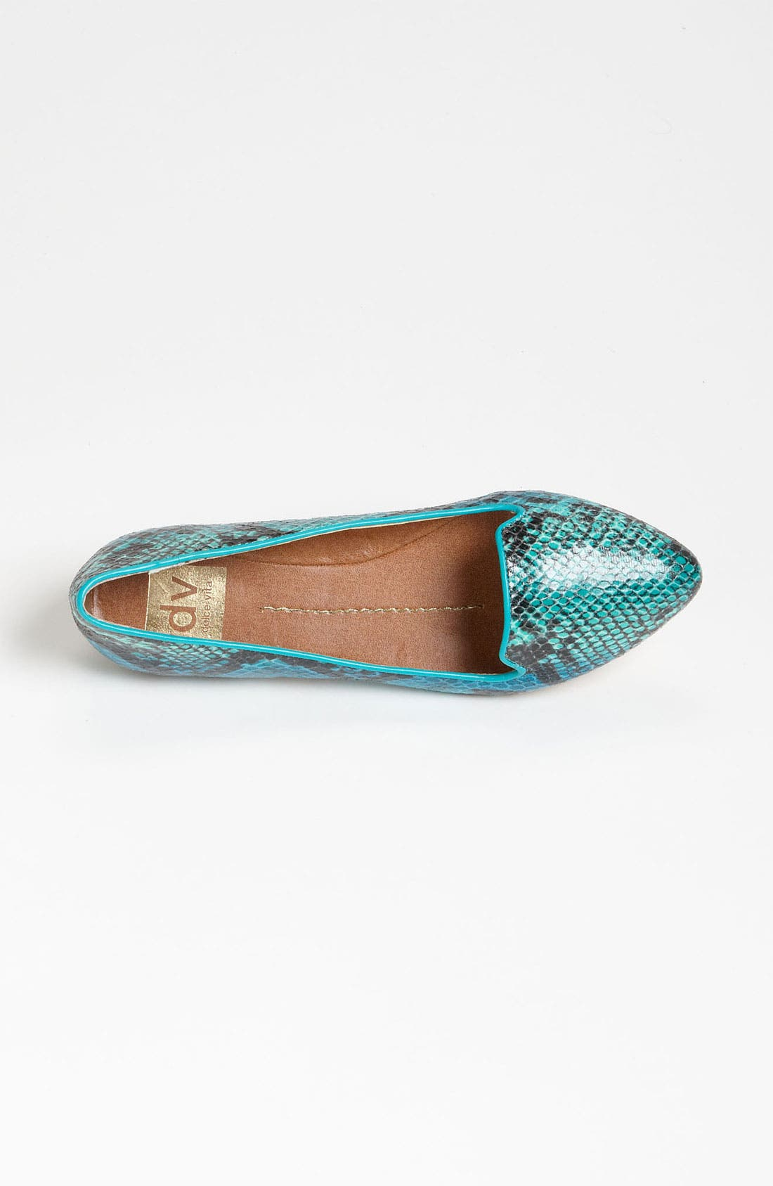 DV by Dolce Vita 'Lissa' Flat,                             Alternate thumbnail 3, color,                             Teal Snake