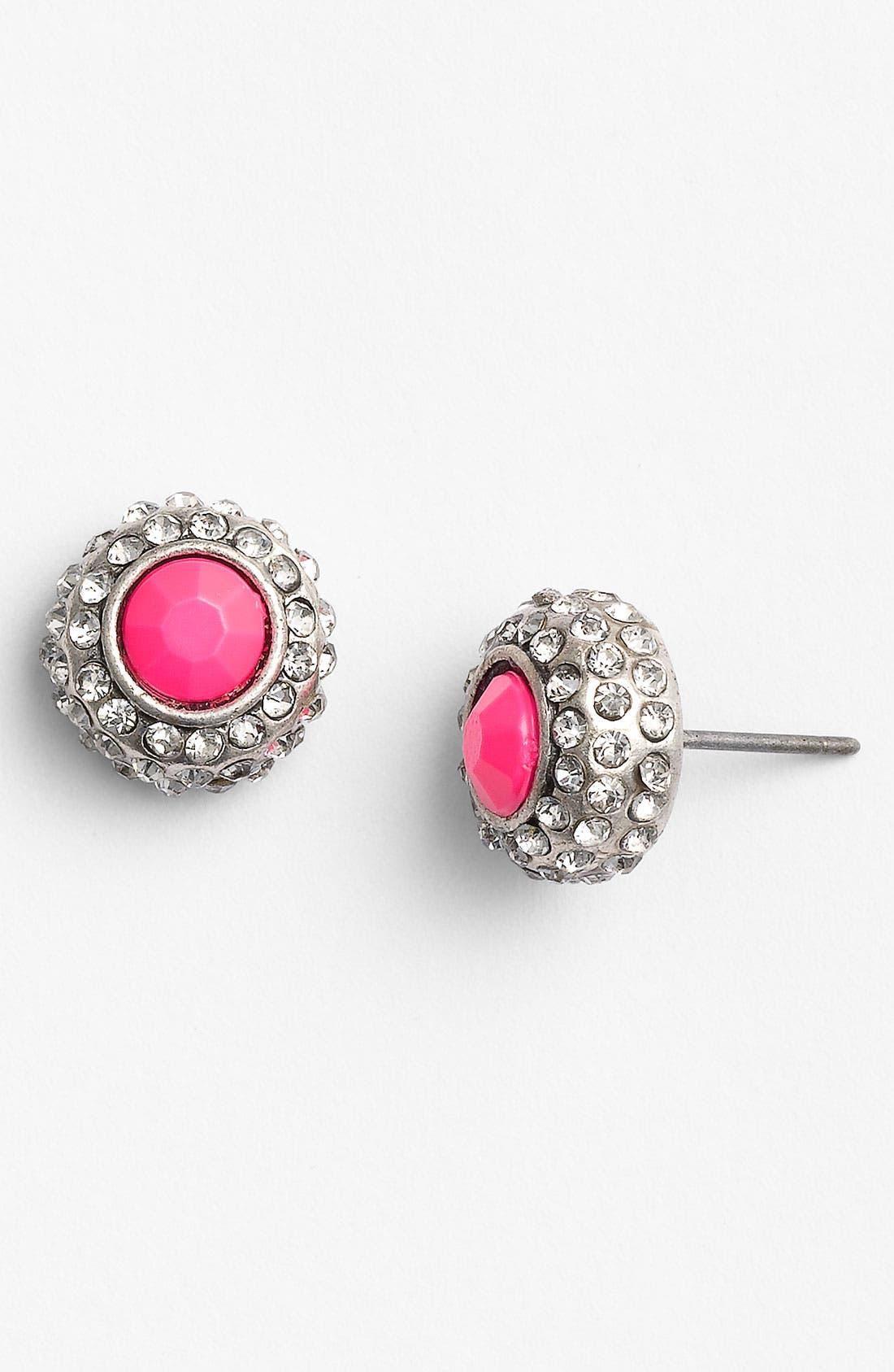 Main Image - Carole Neon Rhinestone Stud Earrings
