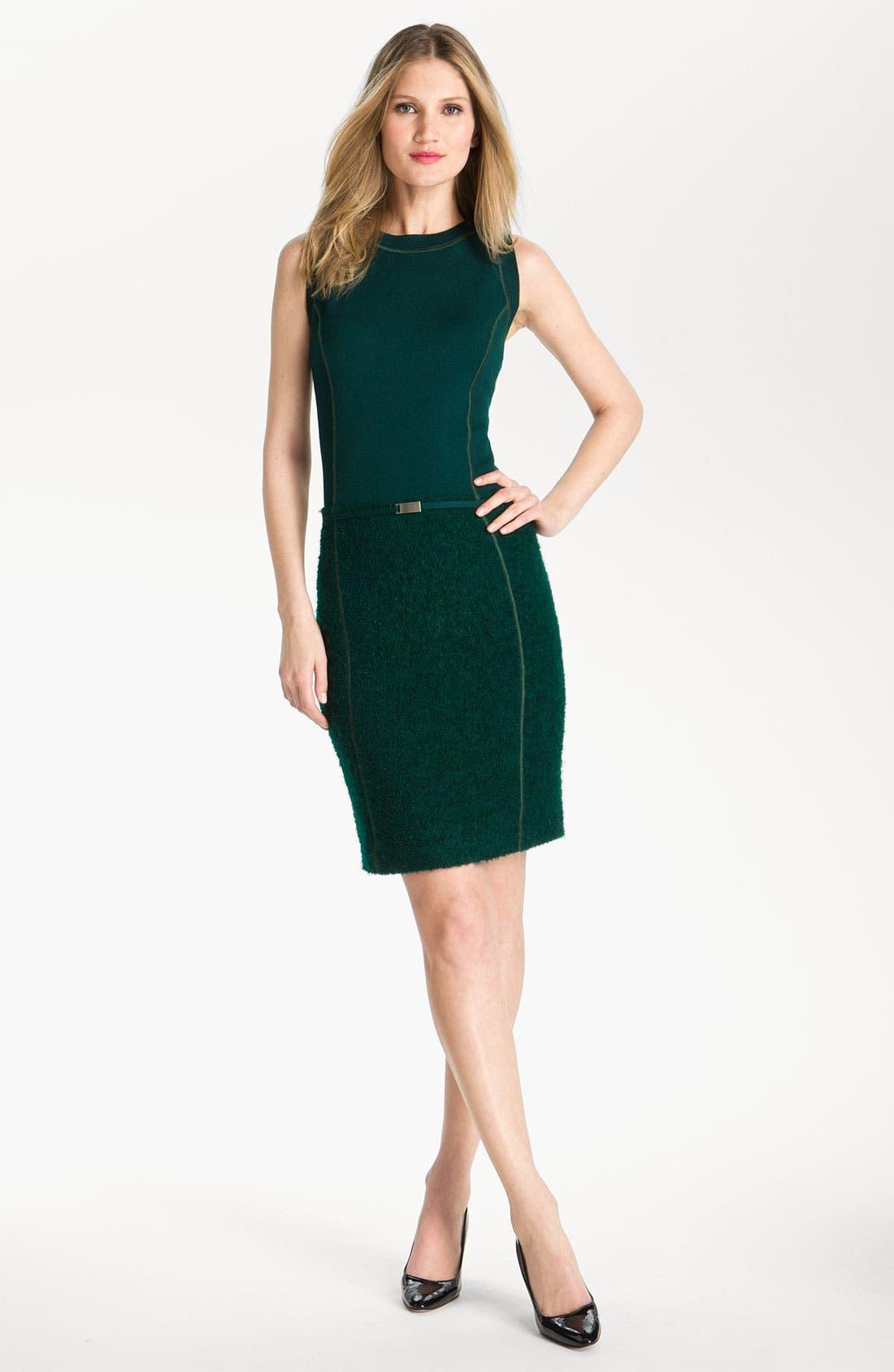 Main Image - St. John Collection Milano Knit & Boucle Dress