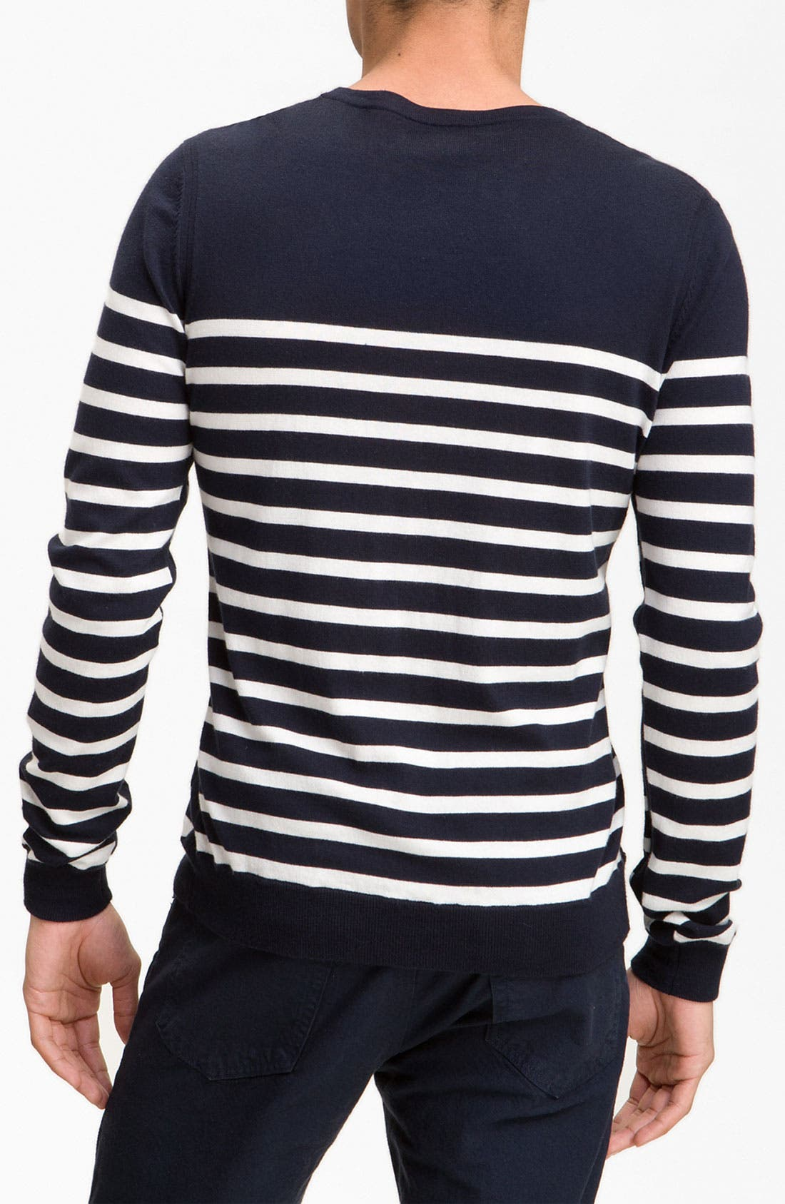 Alternate Image 2  - rag & bone 'Basque' Crewneck Sweater