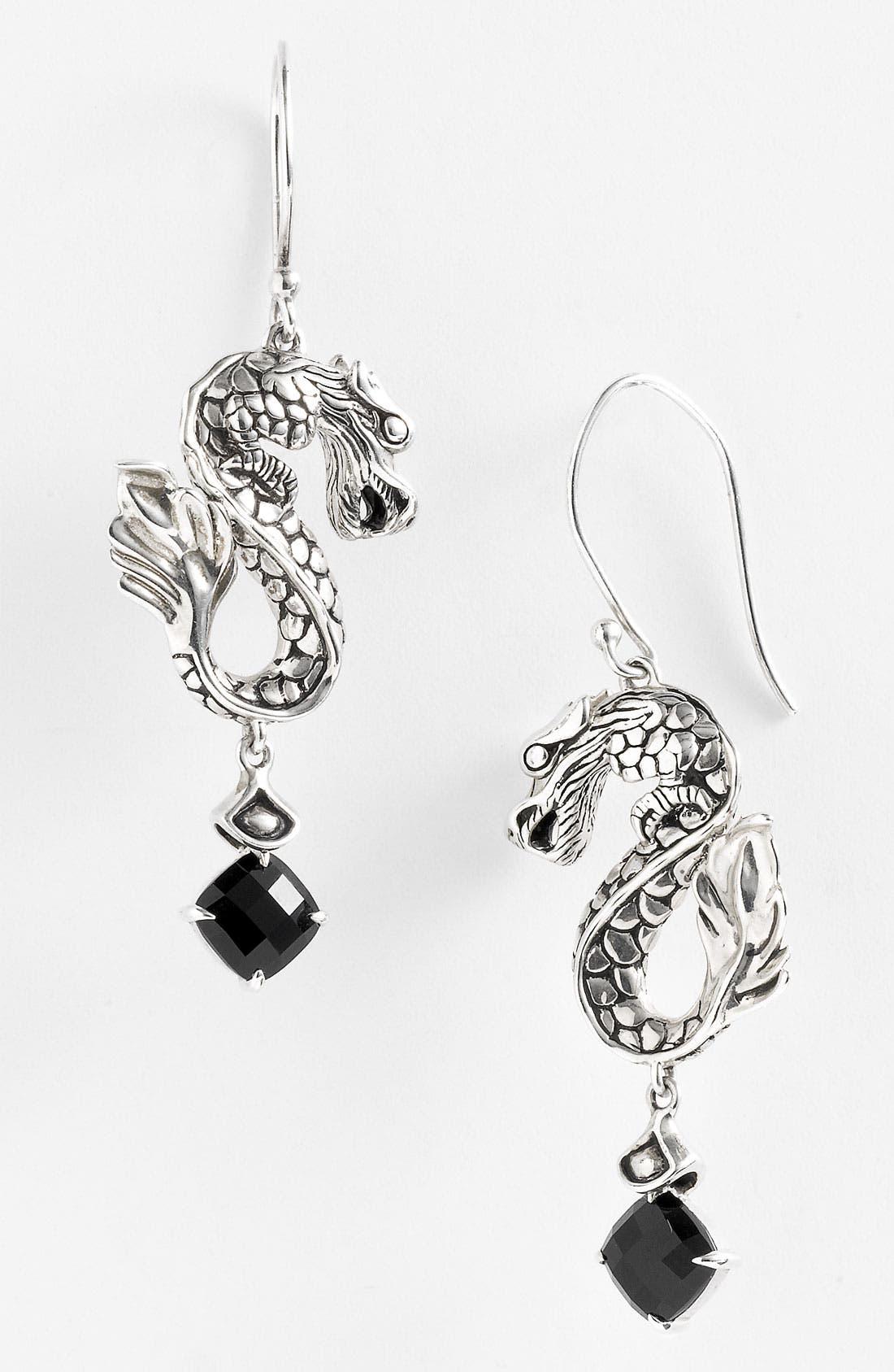 Alternate Image 1 Selected - John Hardy 'Naga Silver Batu' Dragon Earrings