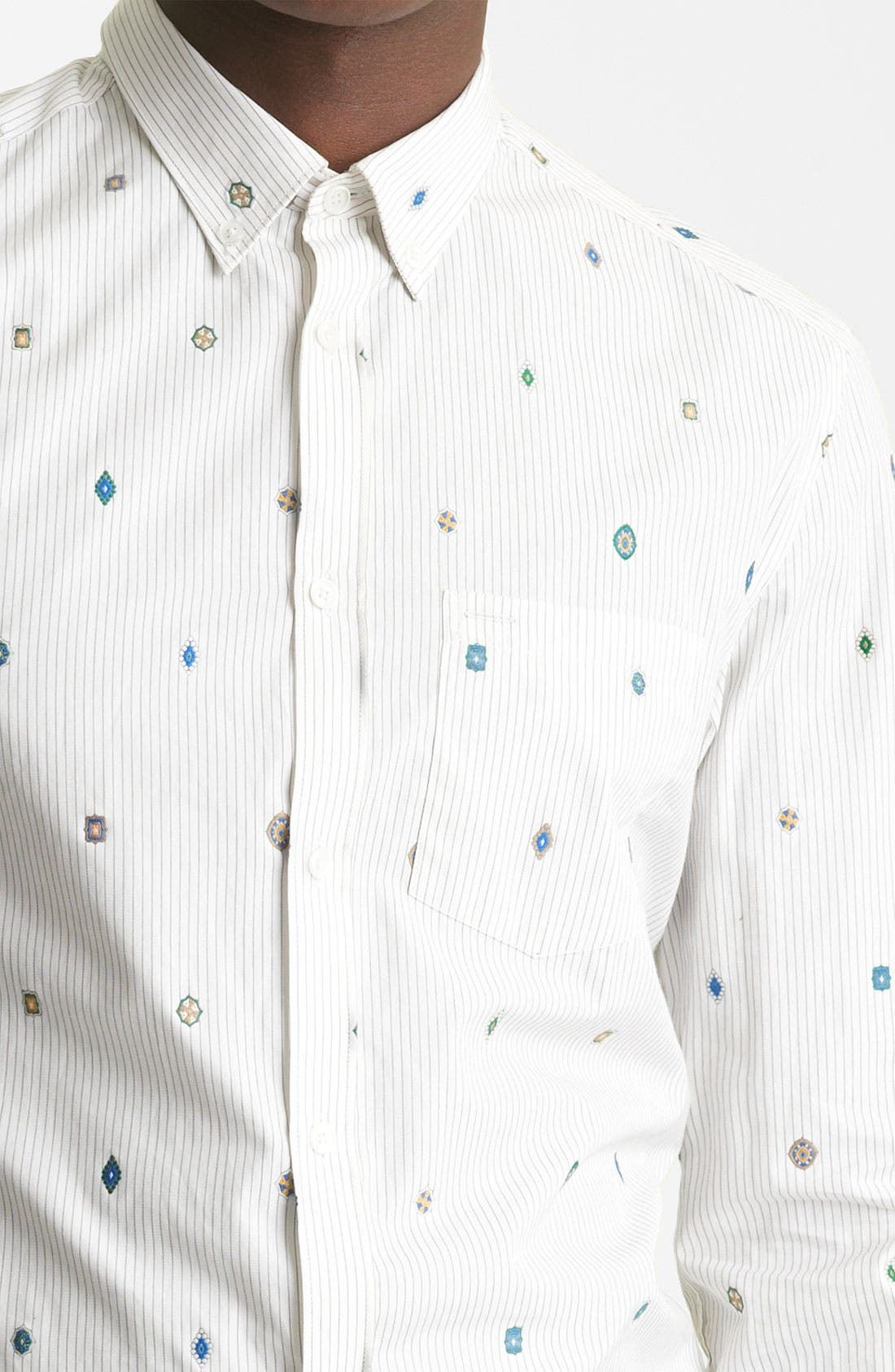 Alternate Image 3  - KENZO Medallion Stripe Dress Shirt