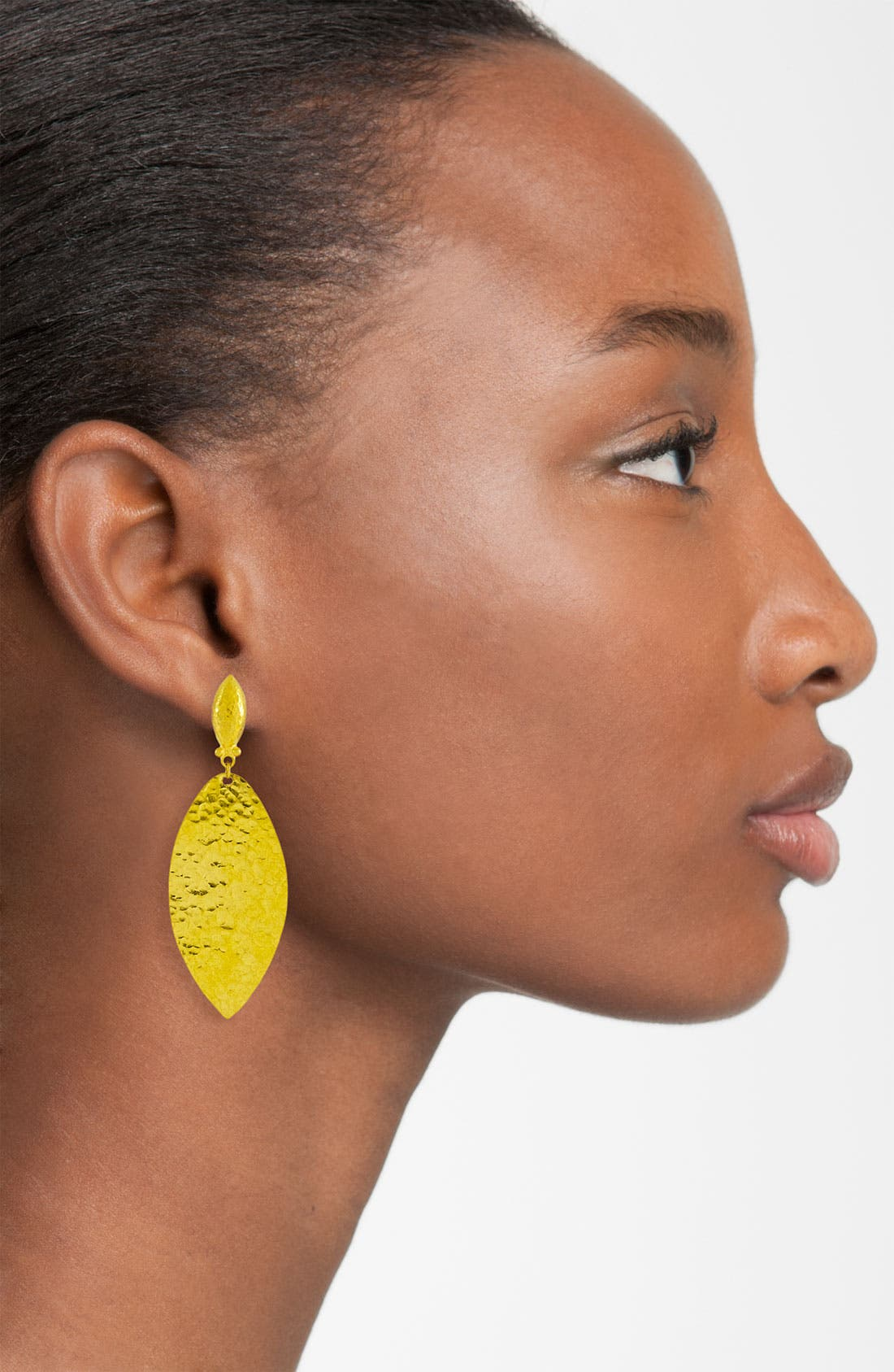 Alternate Image 2  - Gurhan 'Willow' Medium Leaf Drop Earrings