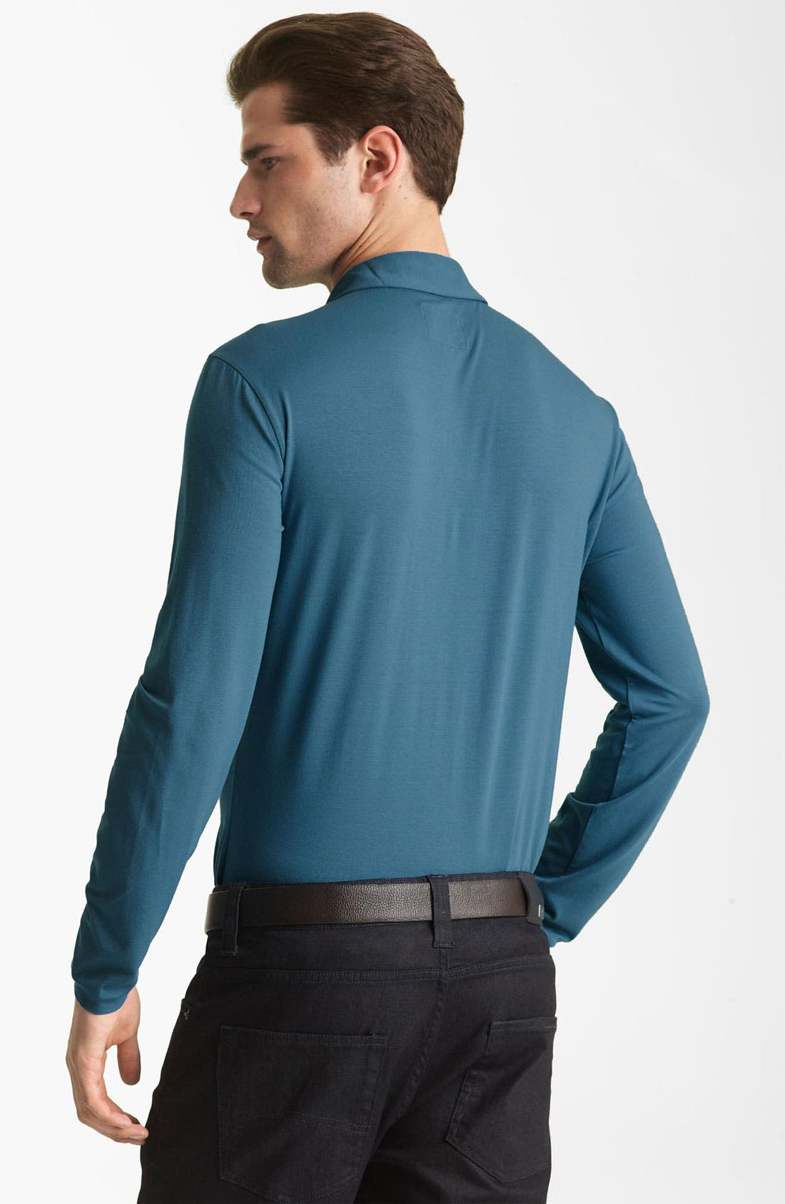 Alternate Image 2  - Armani Collezioni Long Sleeve Polo