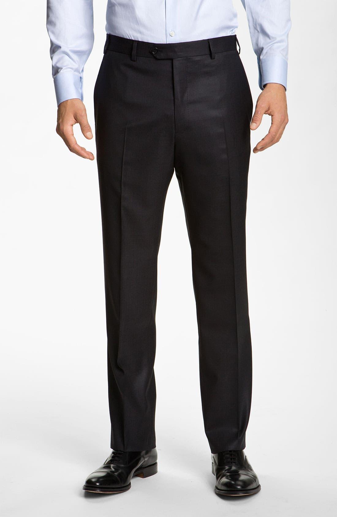 Alternate Image 4  - Armani Collezioni 'Giorgio' Trim Fit Wool Suit