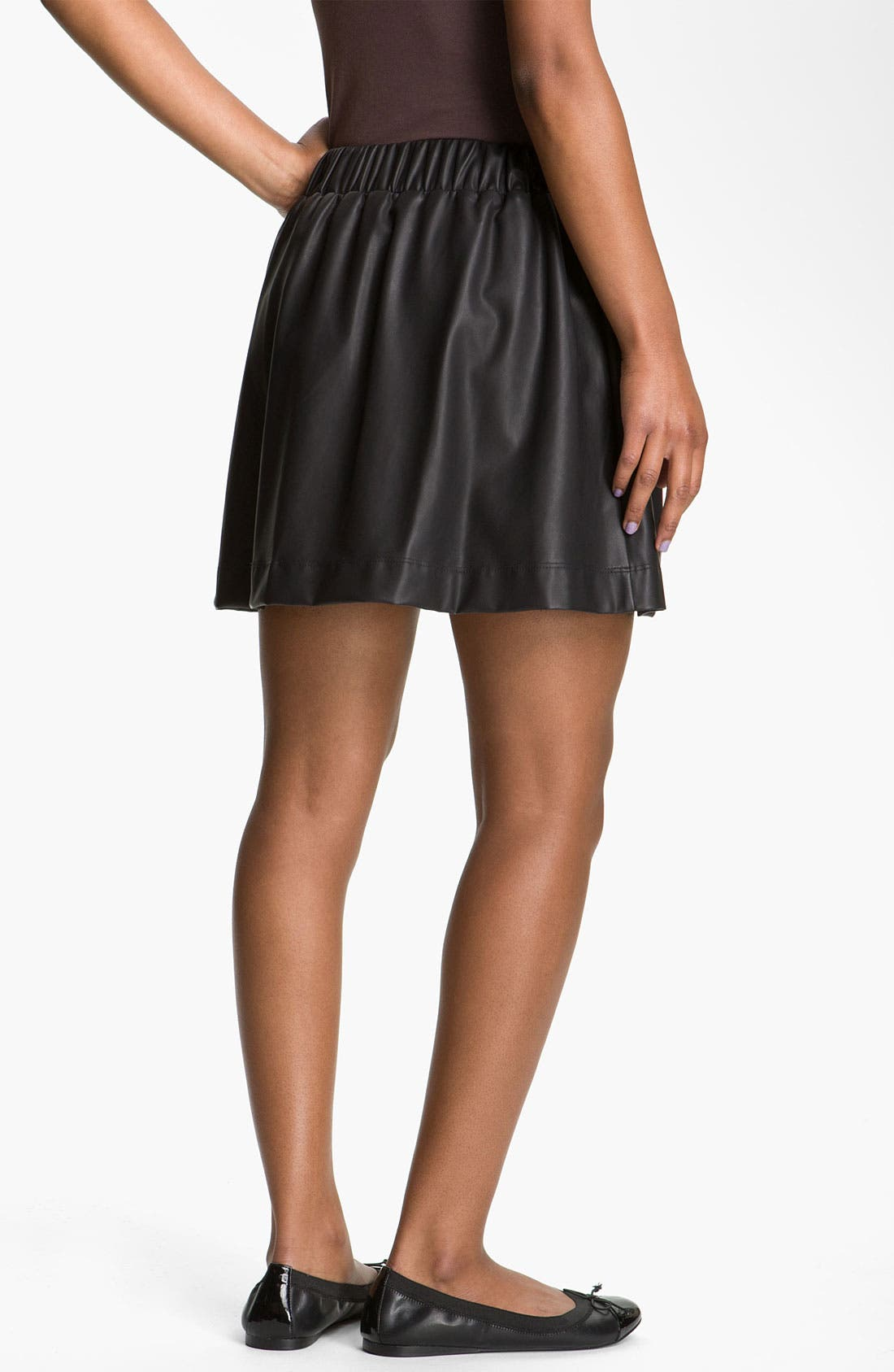Alternate Image 2  - Lily White Faux Leather Skirt (Juniors)