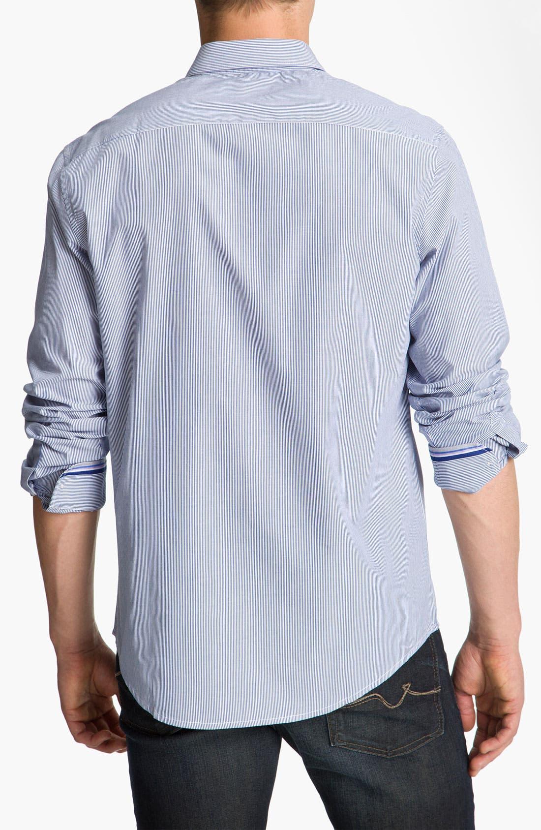 Alternate Image 2  - Ben Sherman Stripe Woven Shirt