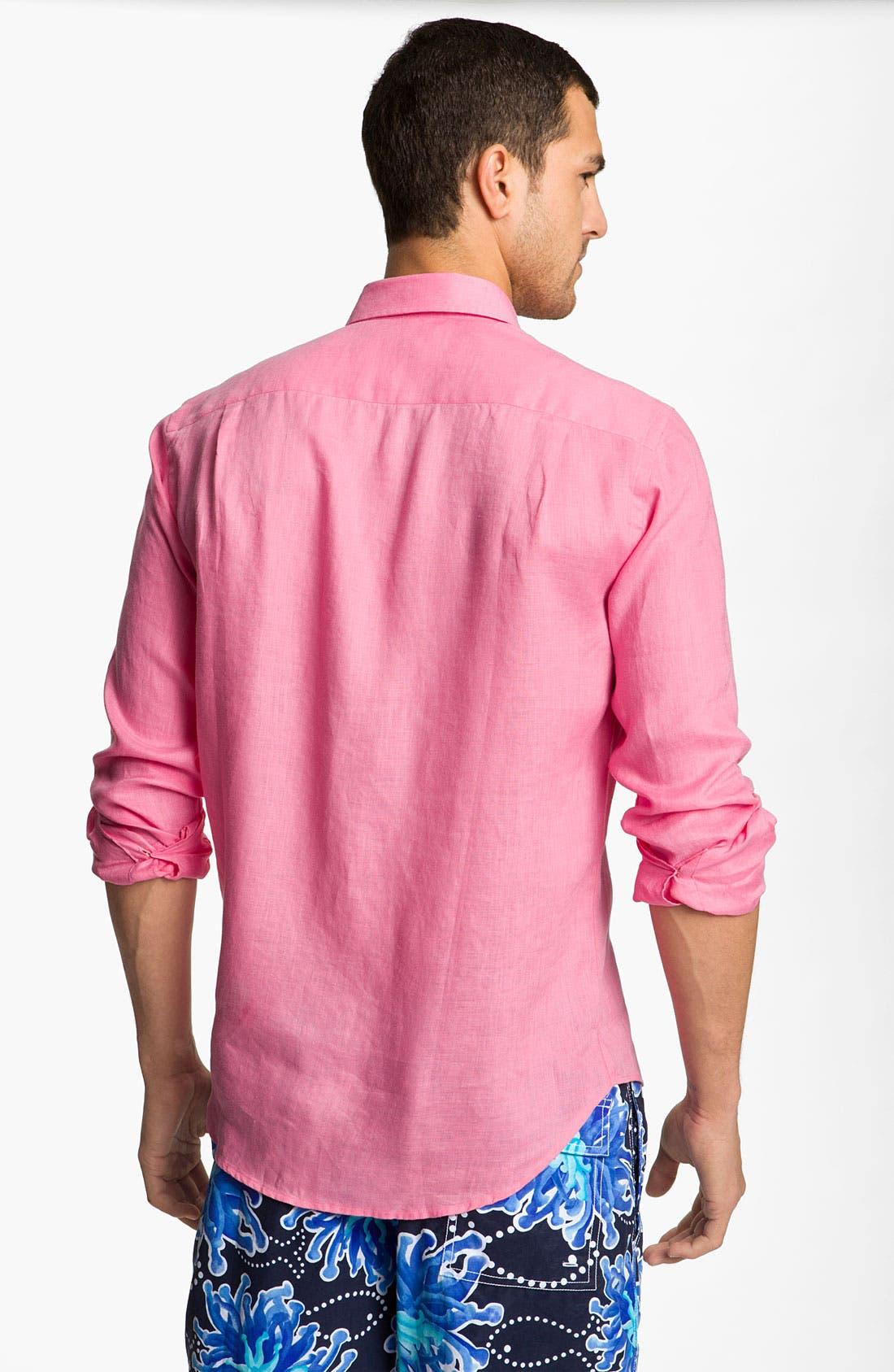 Alternate Image 2  - Vilebrequin 'Caroubier' Linen Sport Shirt