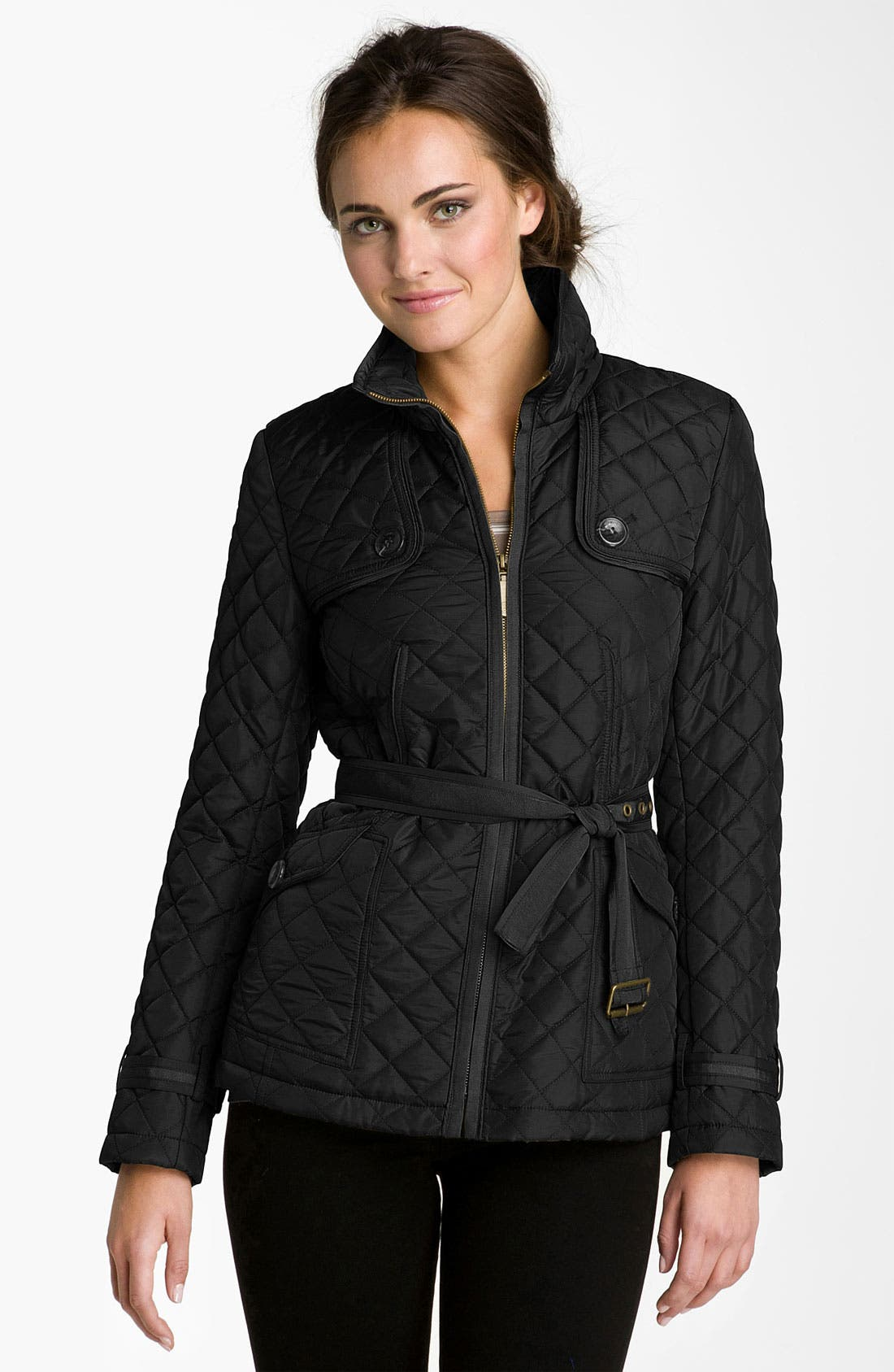 Quilted Jacket,                         Main,                         color, Black