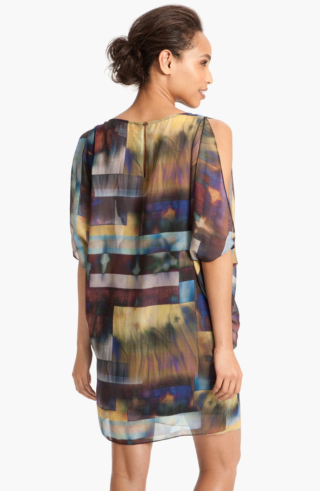 Alternate Image 2  - Aidan by Aidan Mattox Print Chiffon Blouson Dress