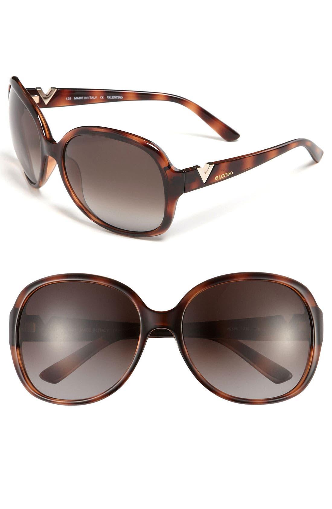 Alternate Image 1 Selected - Valentino Oversized Sunglasses