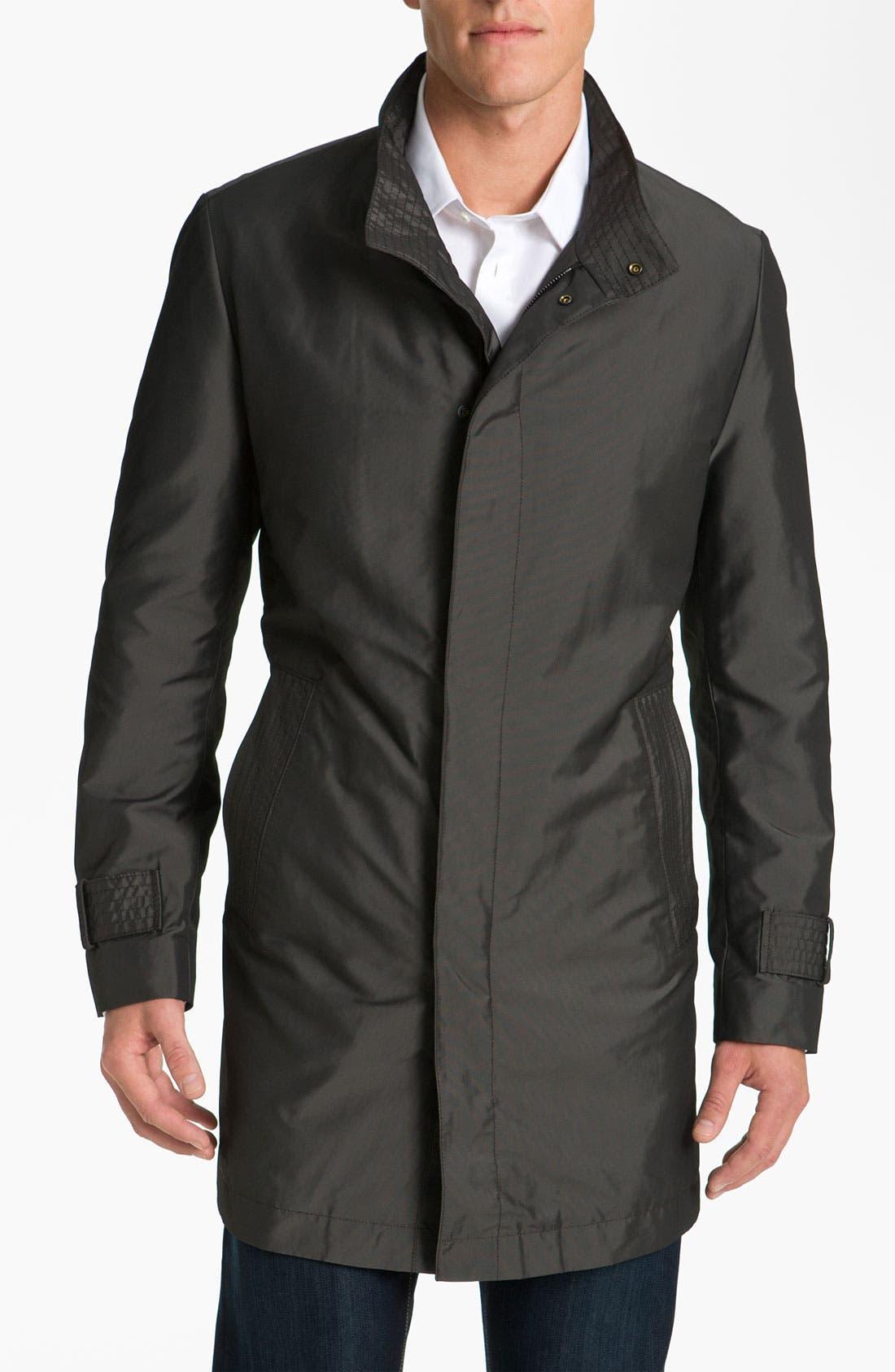 Alternate Image 1 Selected - BOSS Black 'The Pander' Trim Fit Raincoat