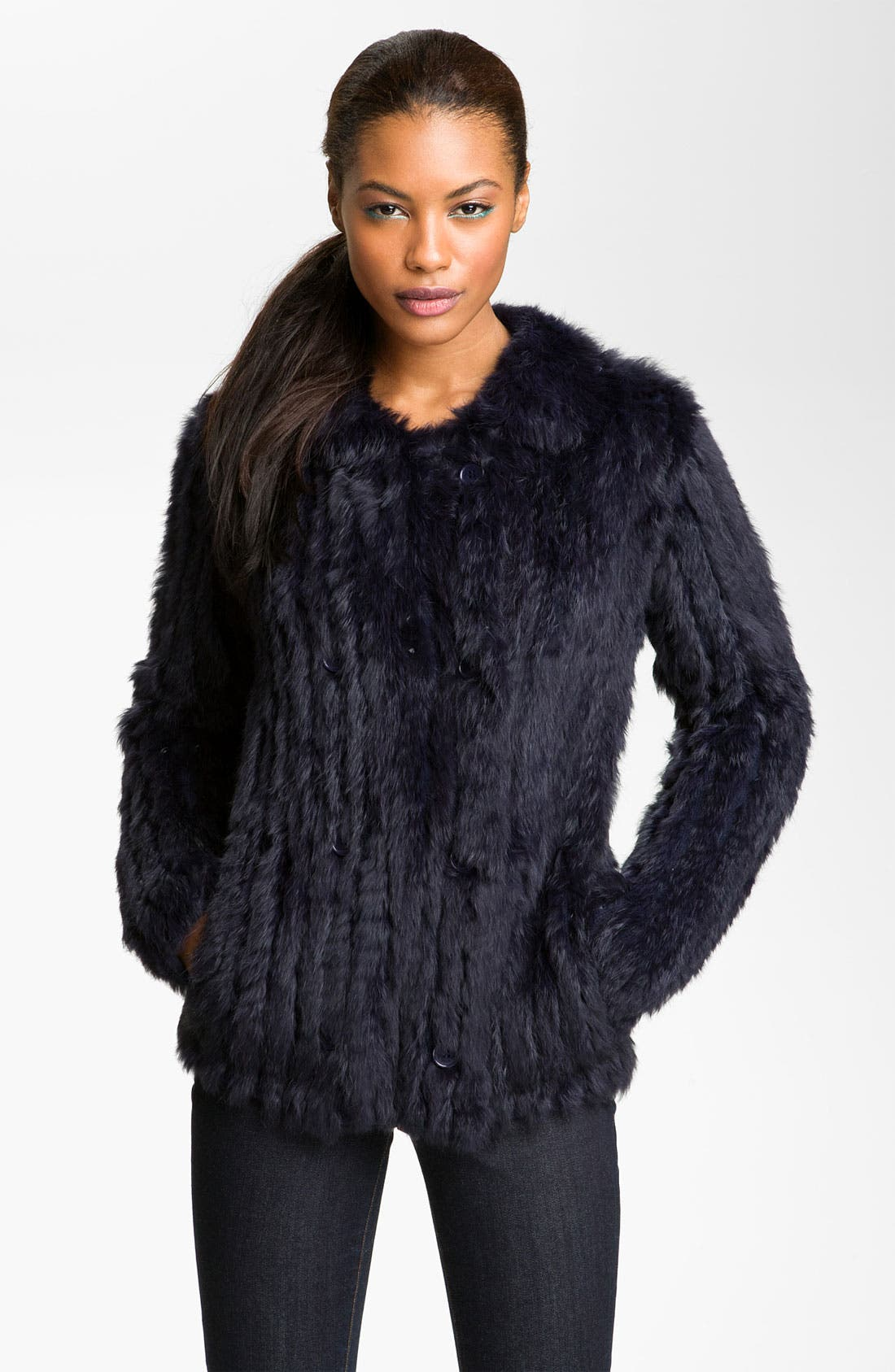 Alternate Image 1 Selected - MARC BY MARC JACOBS 'Katrina' Genuine Rabbit Fur Jacket